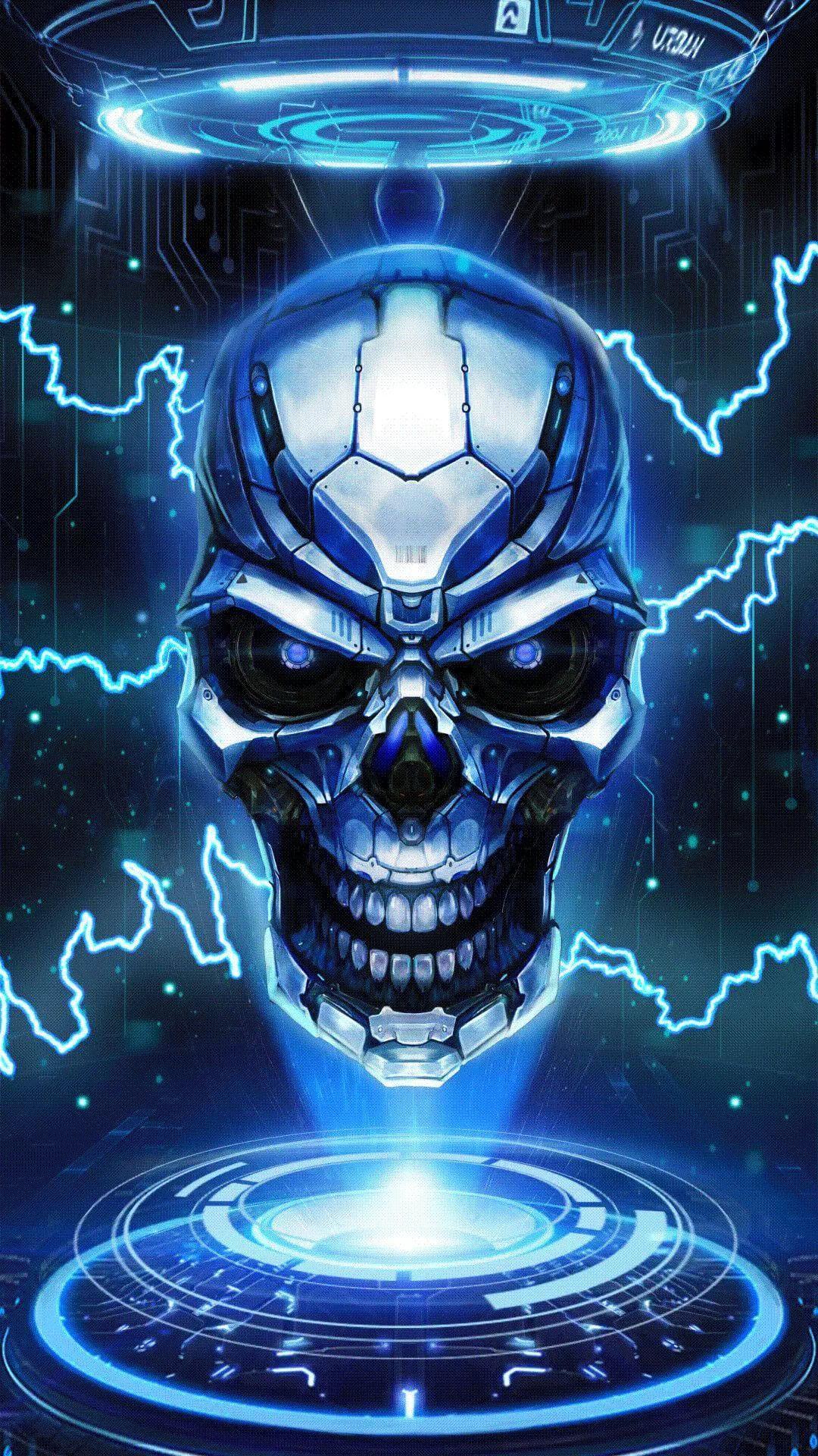 Cool Skull home screen wallpaper