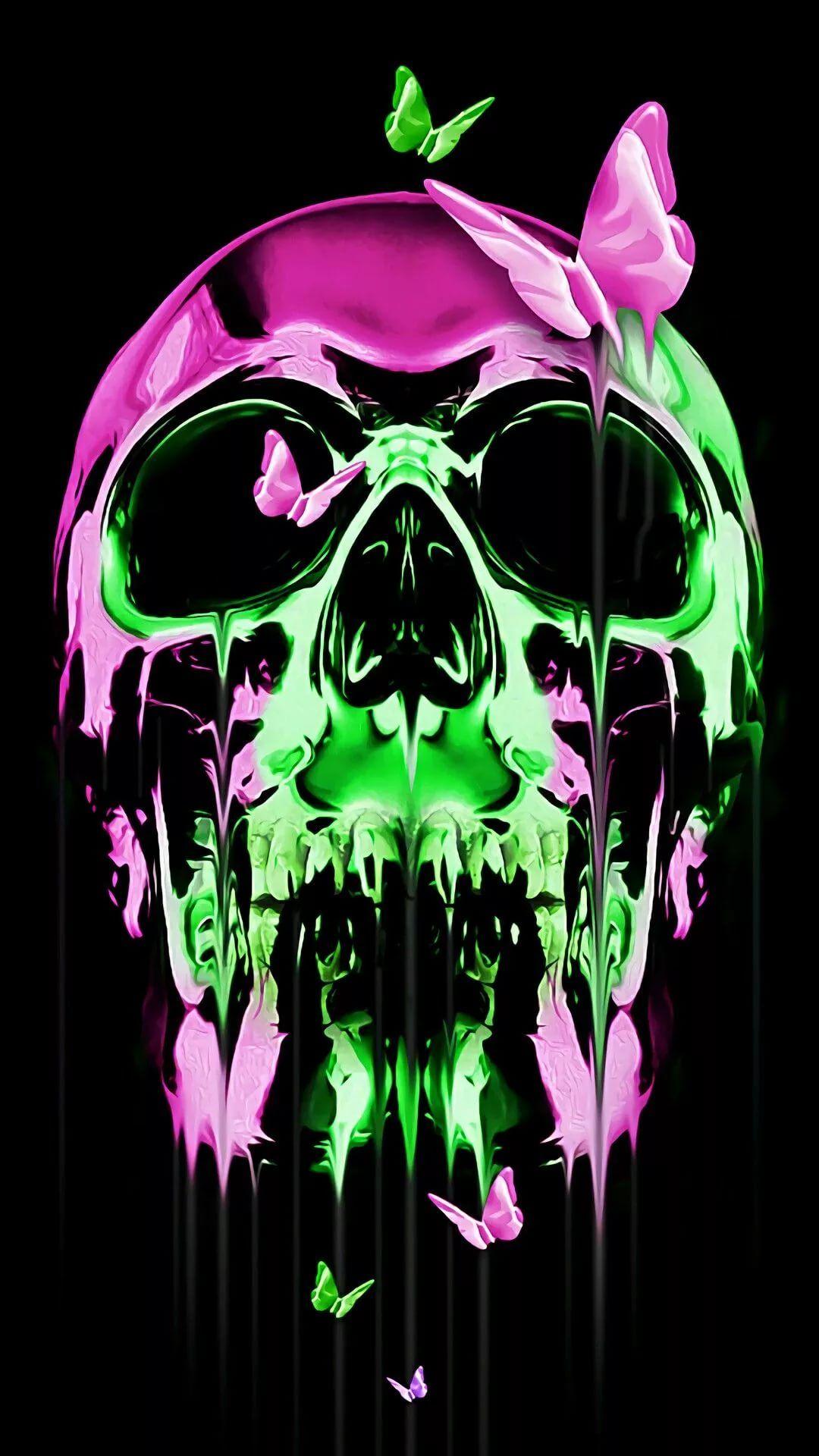 Cool Skull iOS 11 wallpaper
