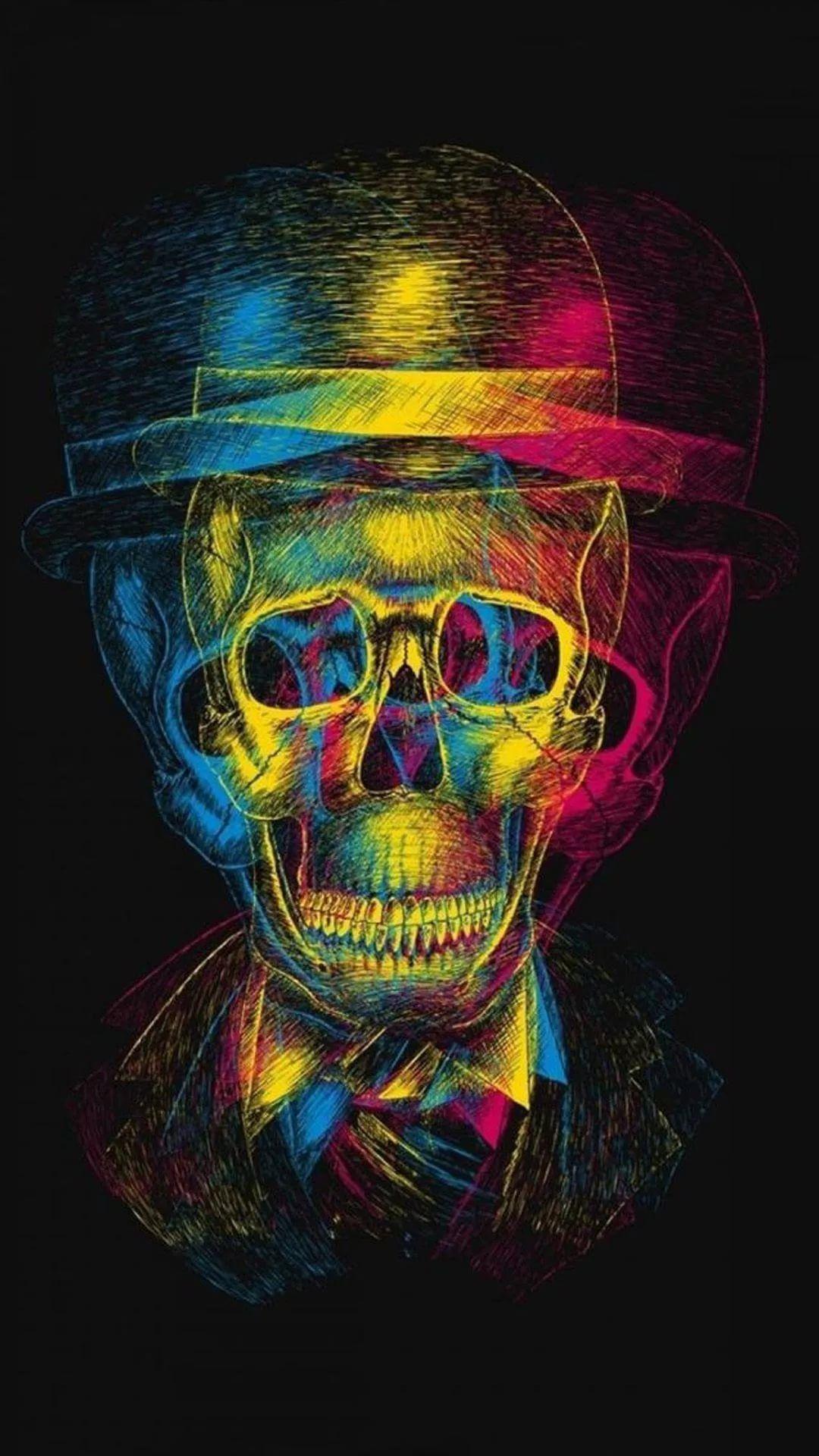 Cool Skull iPhone x wallpaper