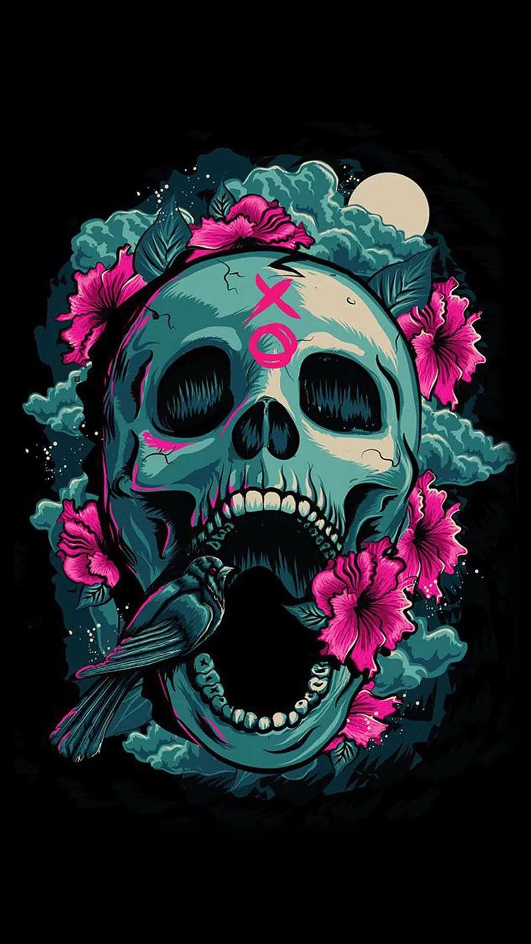 Cool Skull Cool iPhone Wallpaper