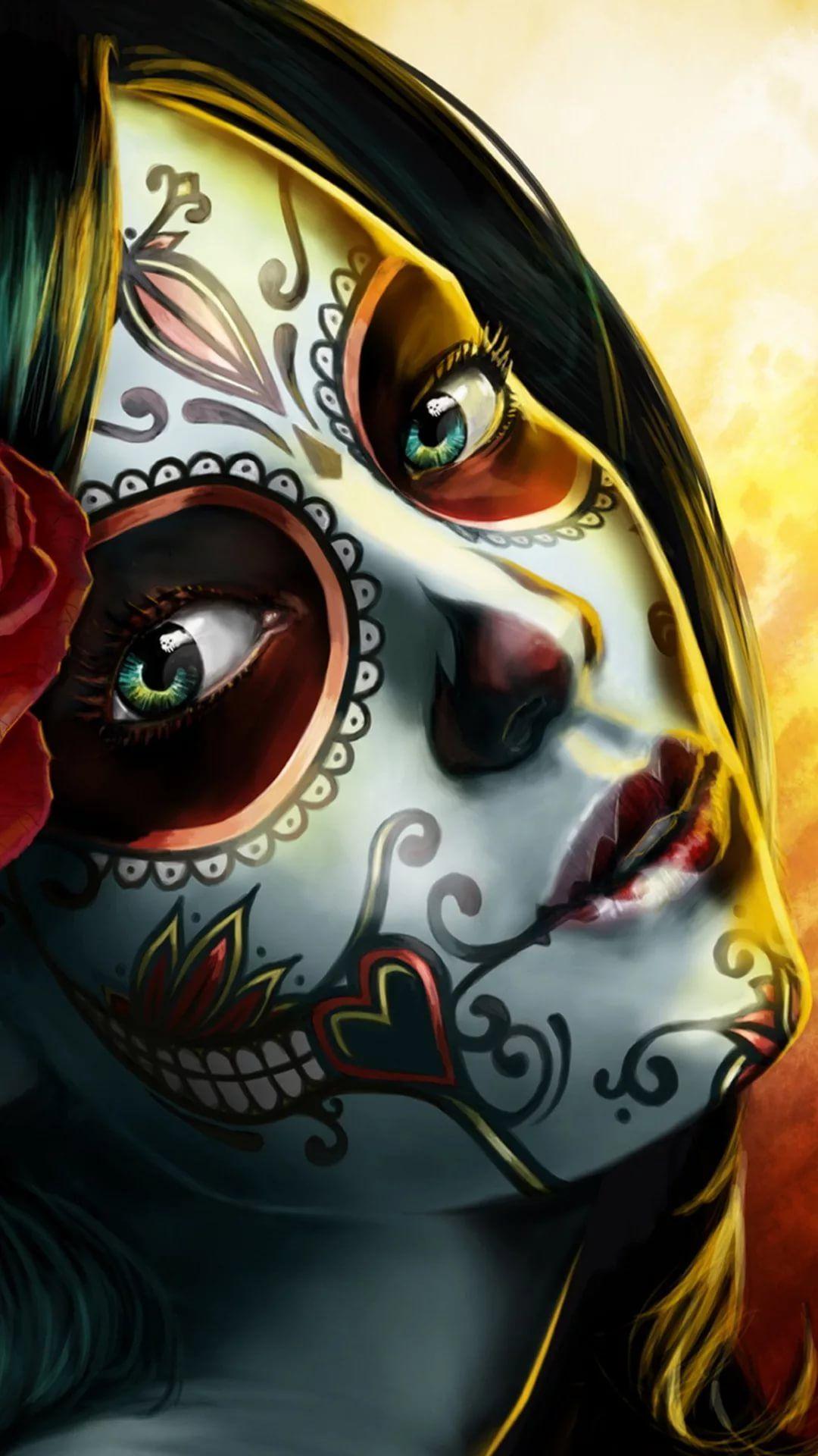 Cool Skull iPhone lock screen wallpaper
