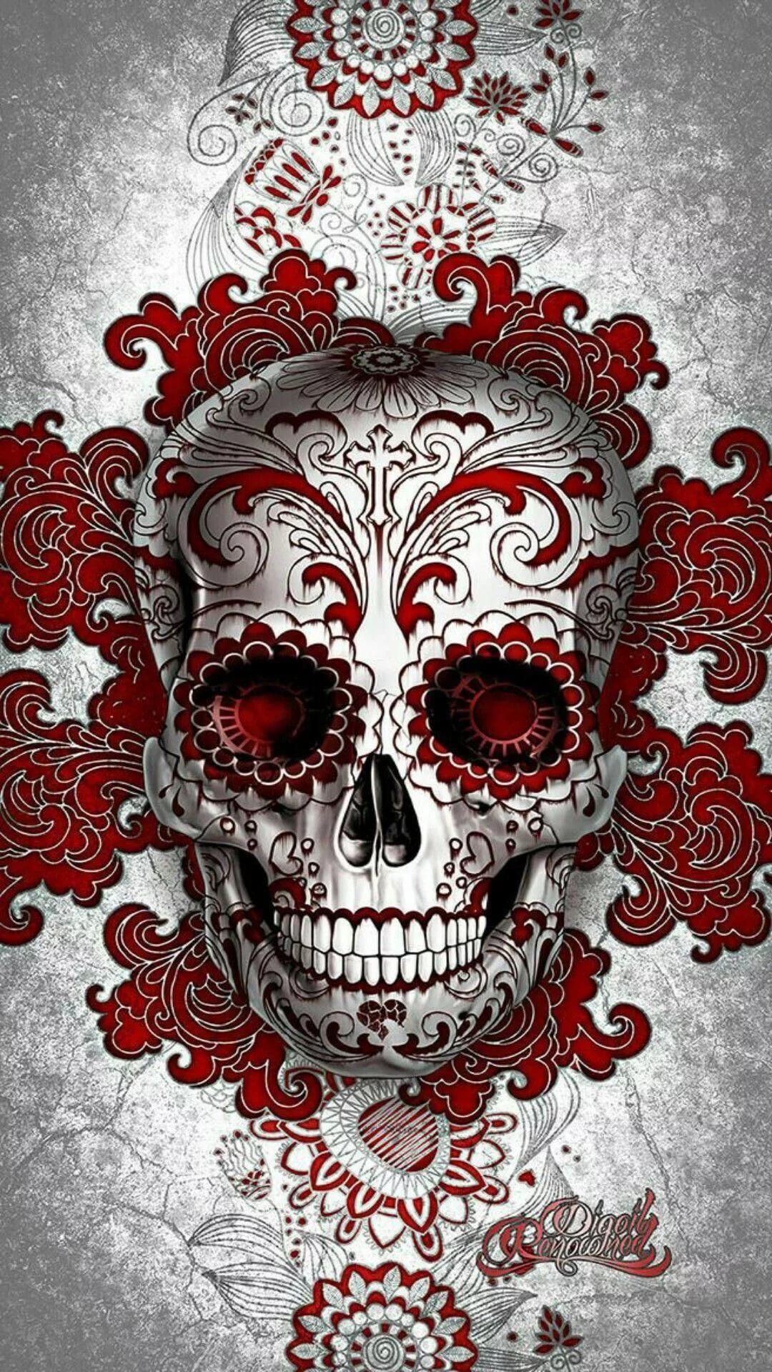 Cool Skull iPhone 7 wallpaper hd