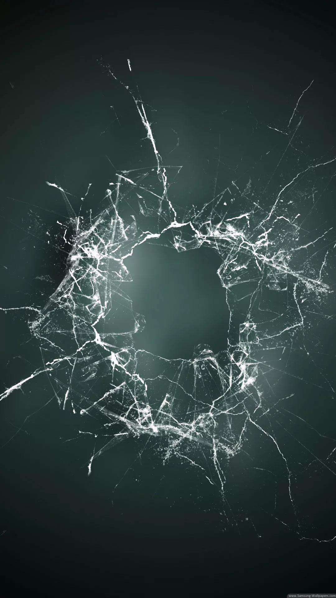Cracked Phone iPhone 5 wallpaper