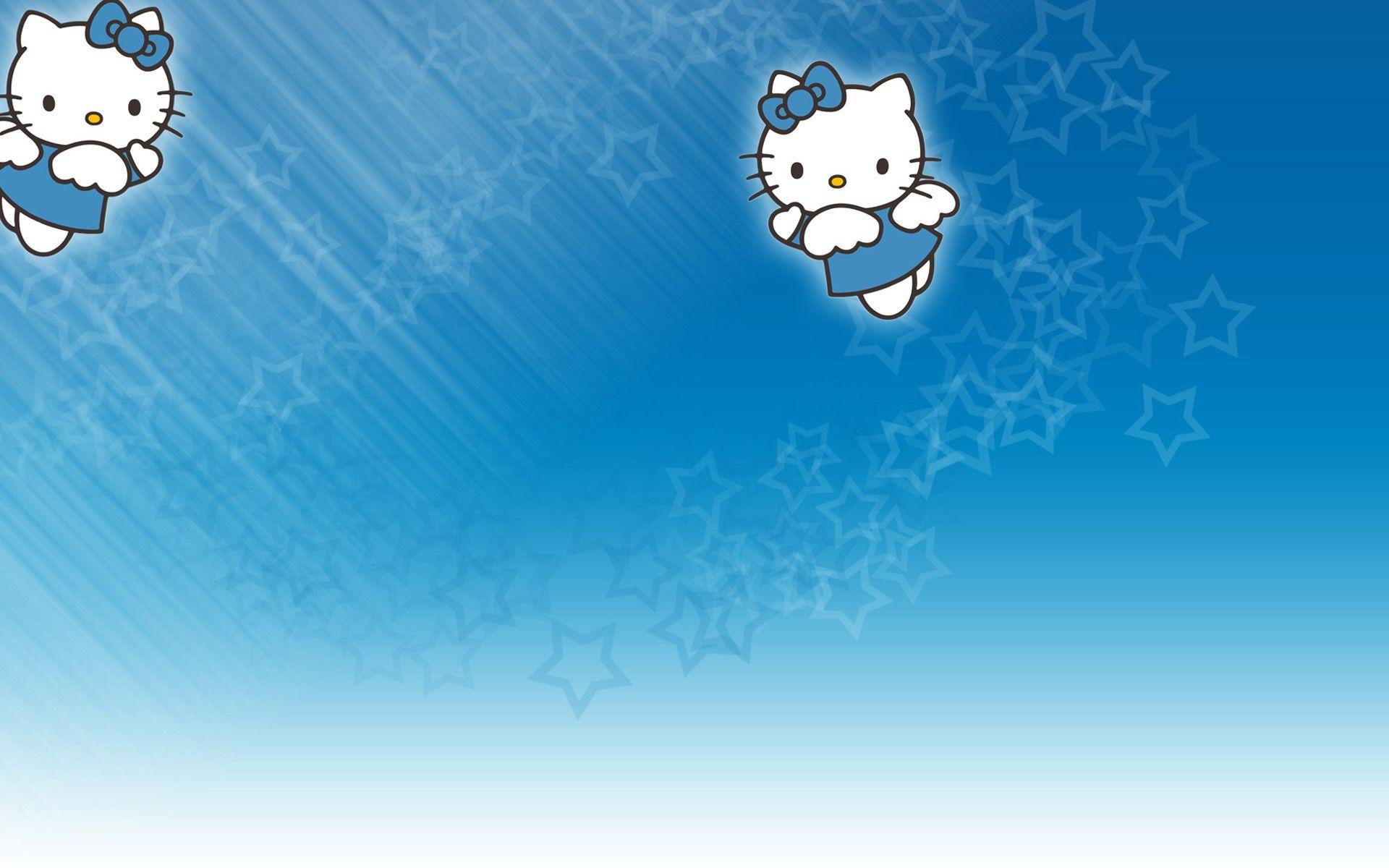 Cute Blue Hello Kitty Pic