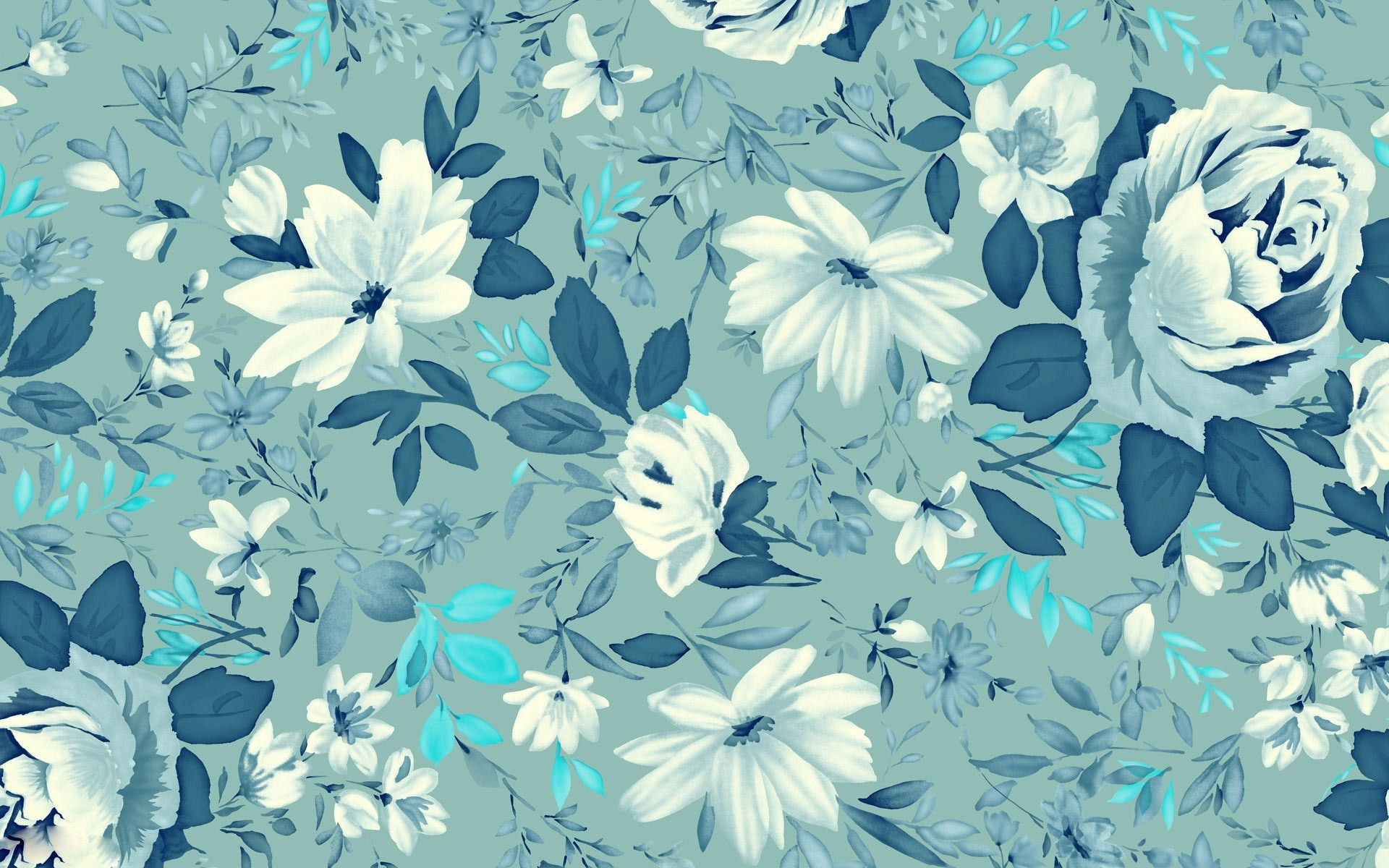 Cute Blue Flowers Free Wallpaper