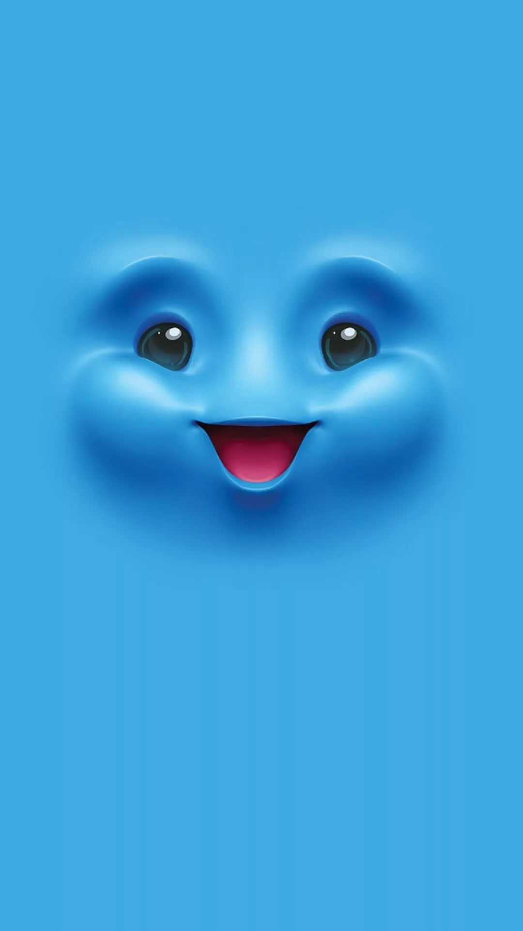 Cute Blue iOS wallpaper