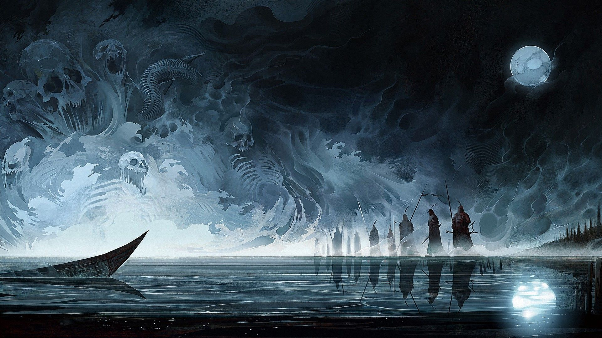 Dark Fantasy, River Stiks Art, Hazea wallpaper