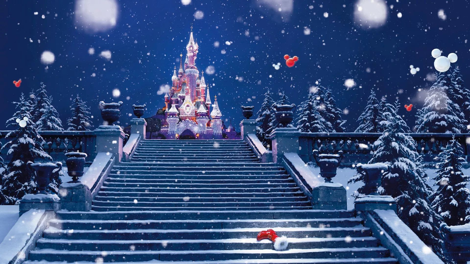Disney Christmas background wallpaper