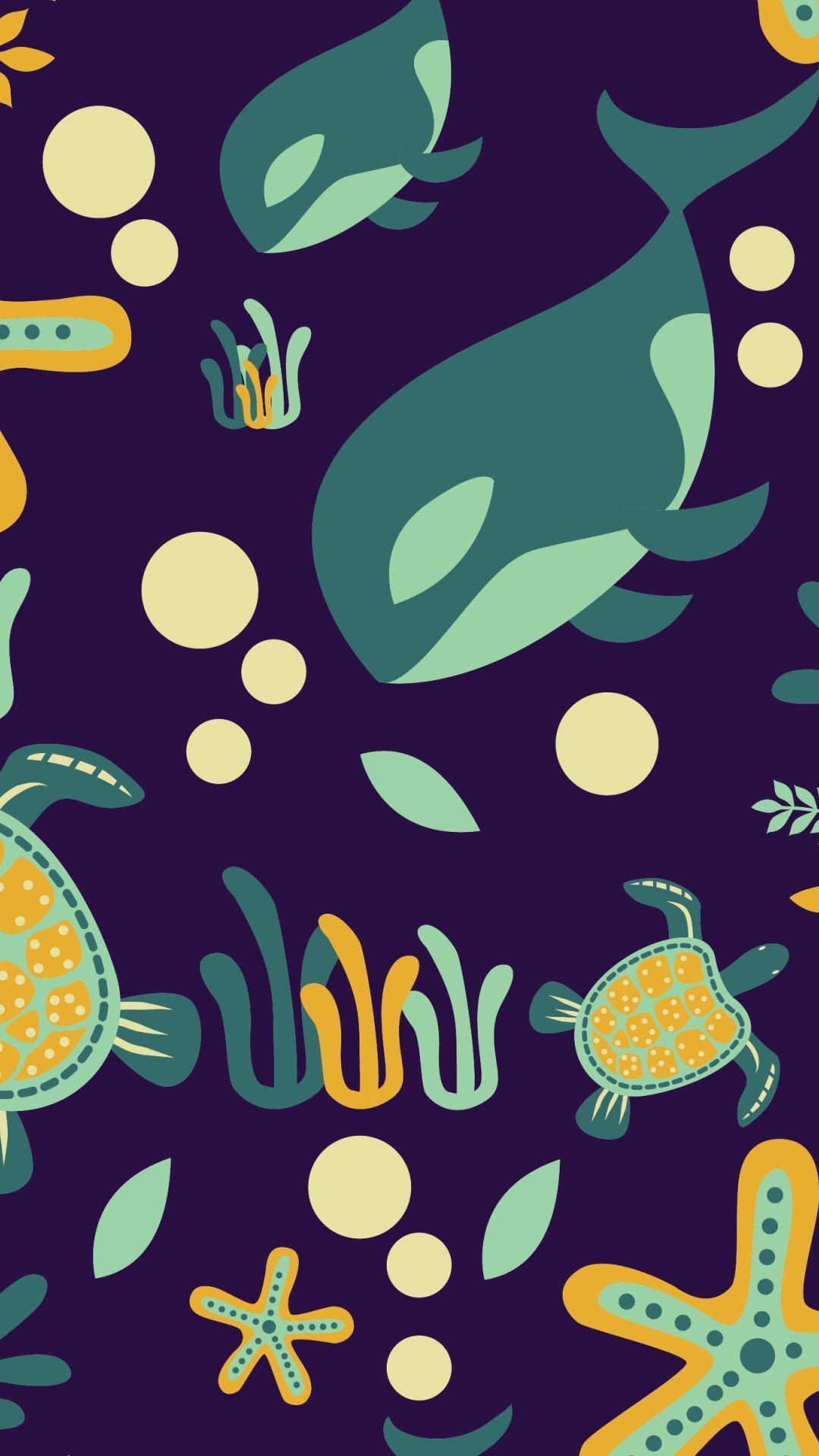 Fish Clean iPhone lock screen wallpaper