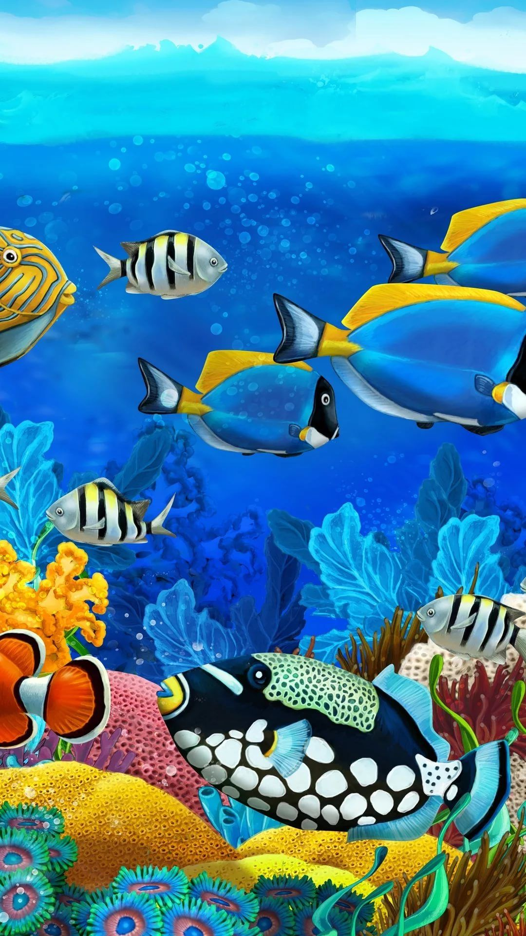 Free Tropical Fish Android p wallpaper