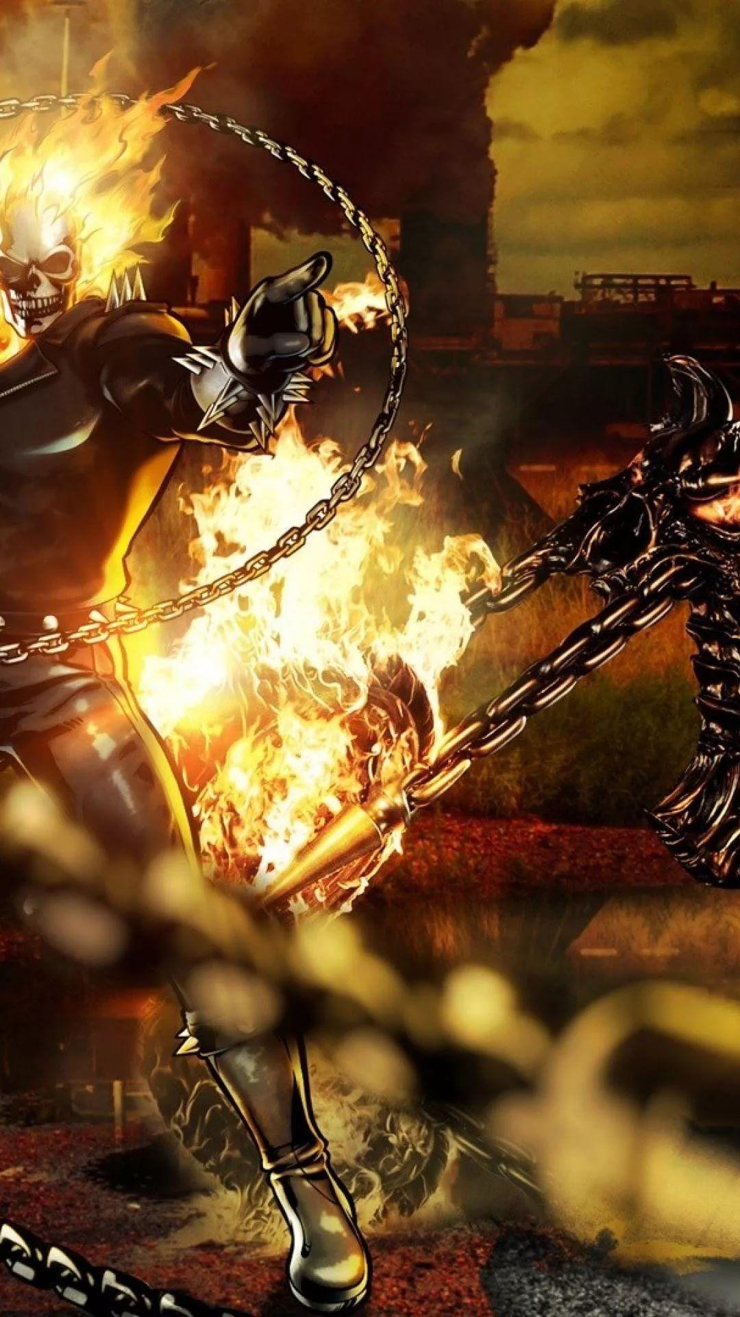 Ghost Rider iOS 11 wallpaper