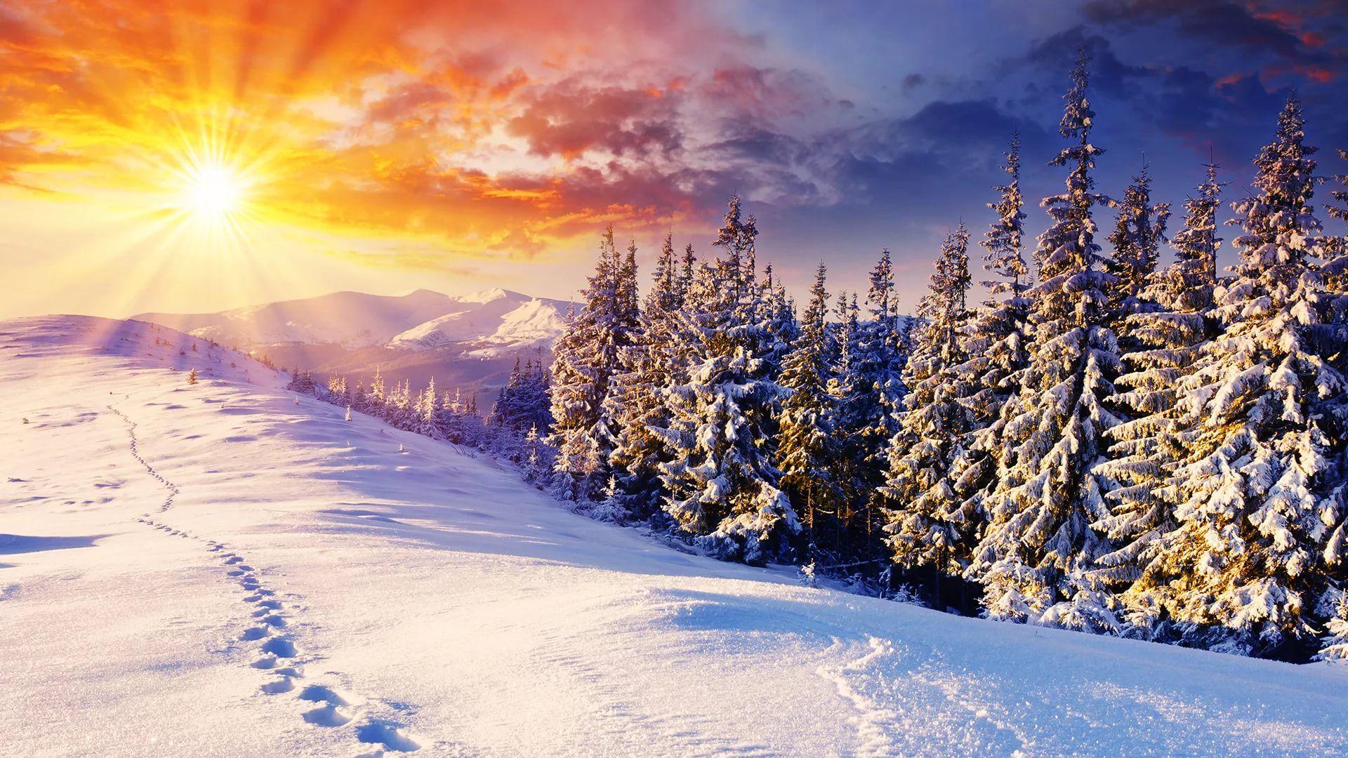 Happy Winter Background