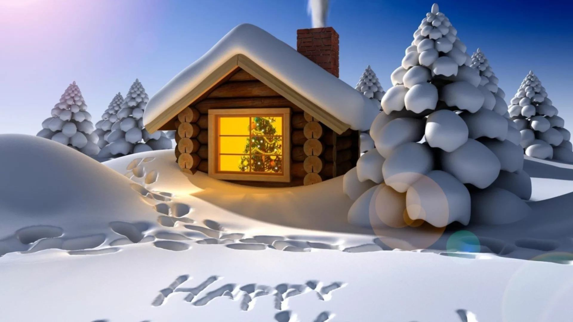 Happy Winter Free Wallpaper and Background