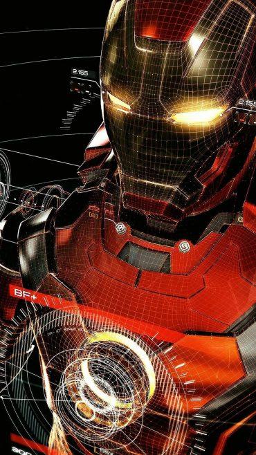 Iron Man D Samsung Galaxy s8 wallpaper