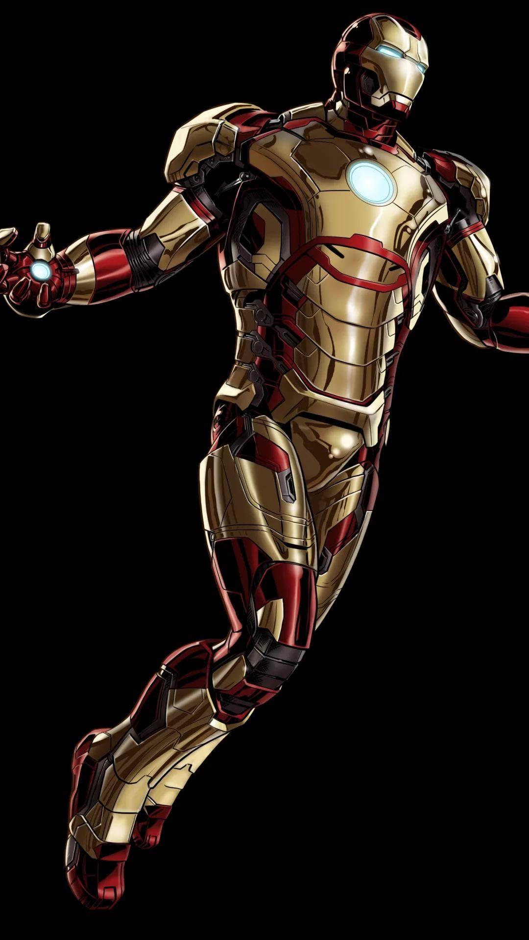 Iron Man D iOS 7 wallpaper
