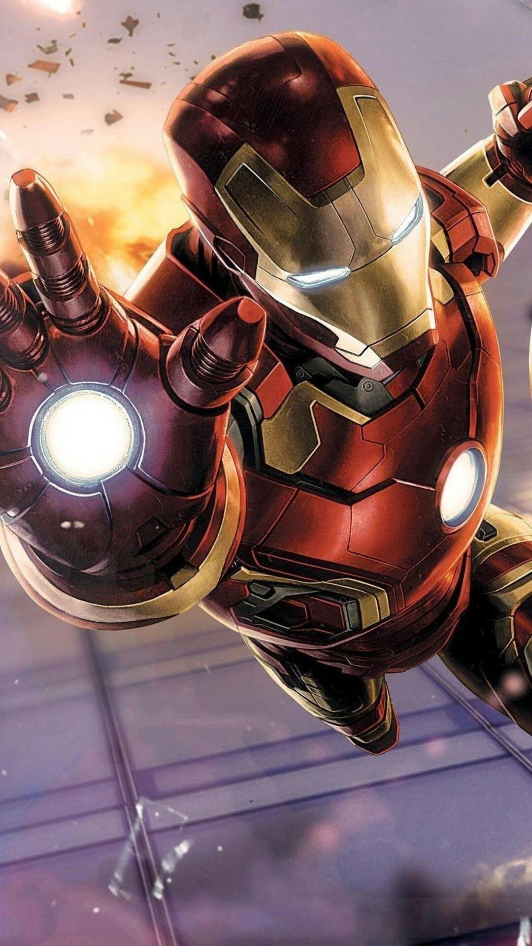 Iron Man D color wallpaper