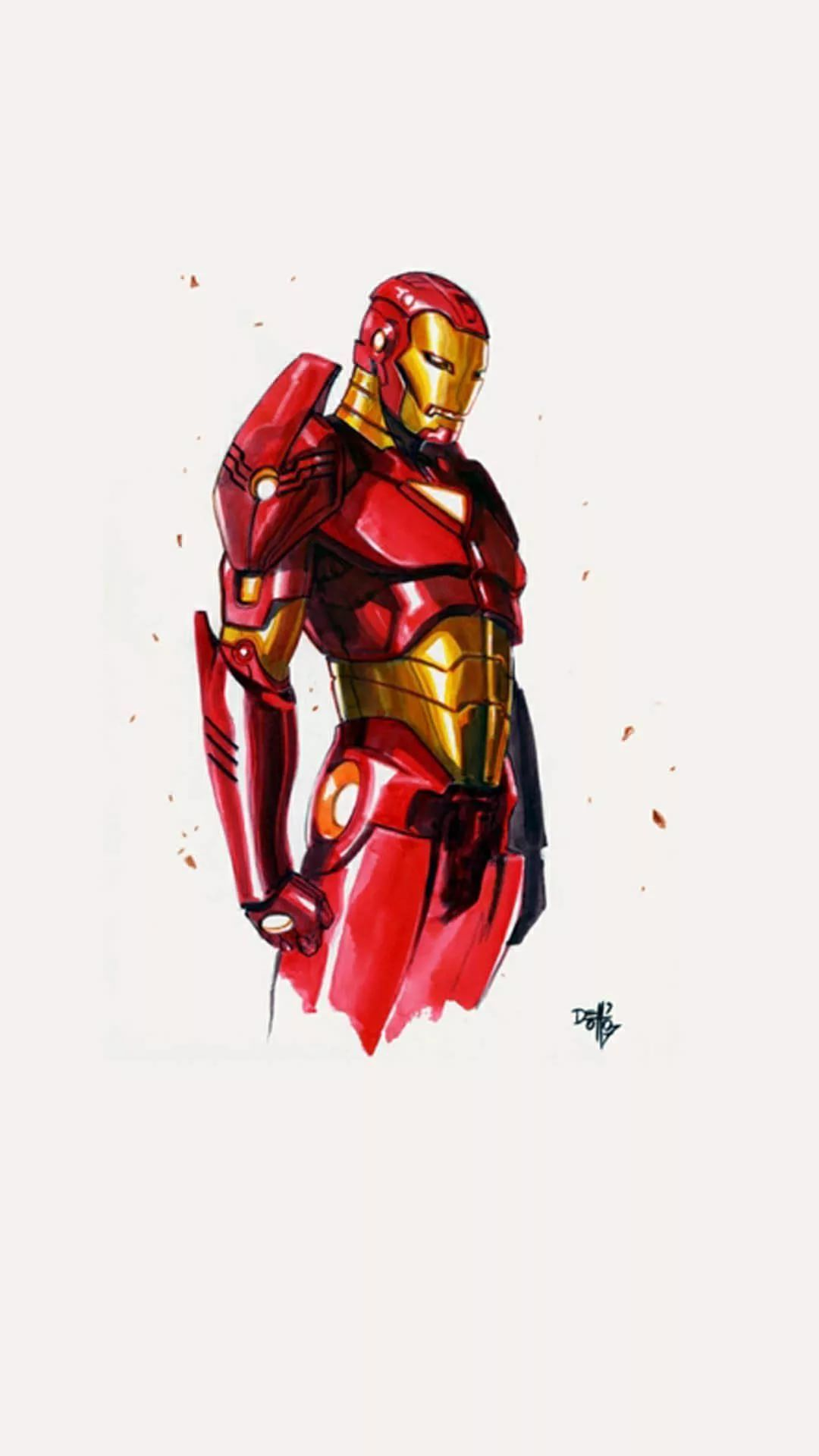 Iron Man D iPhone Wallpaper