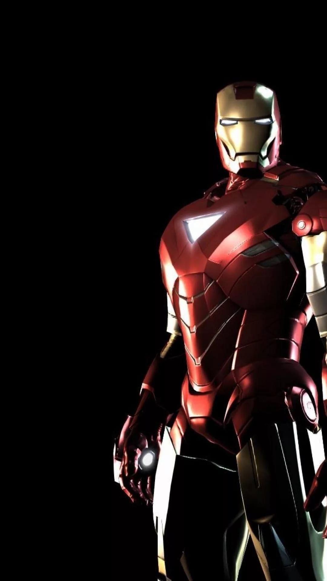 Iron Man D iOS wallpaper