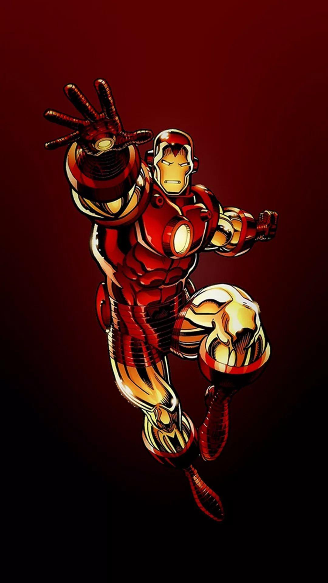 Iron Man D home screen wallpaper