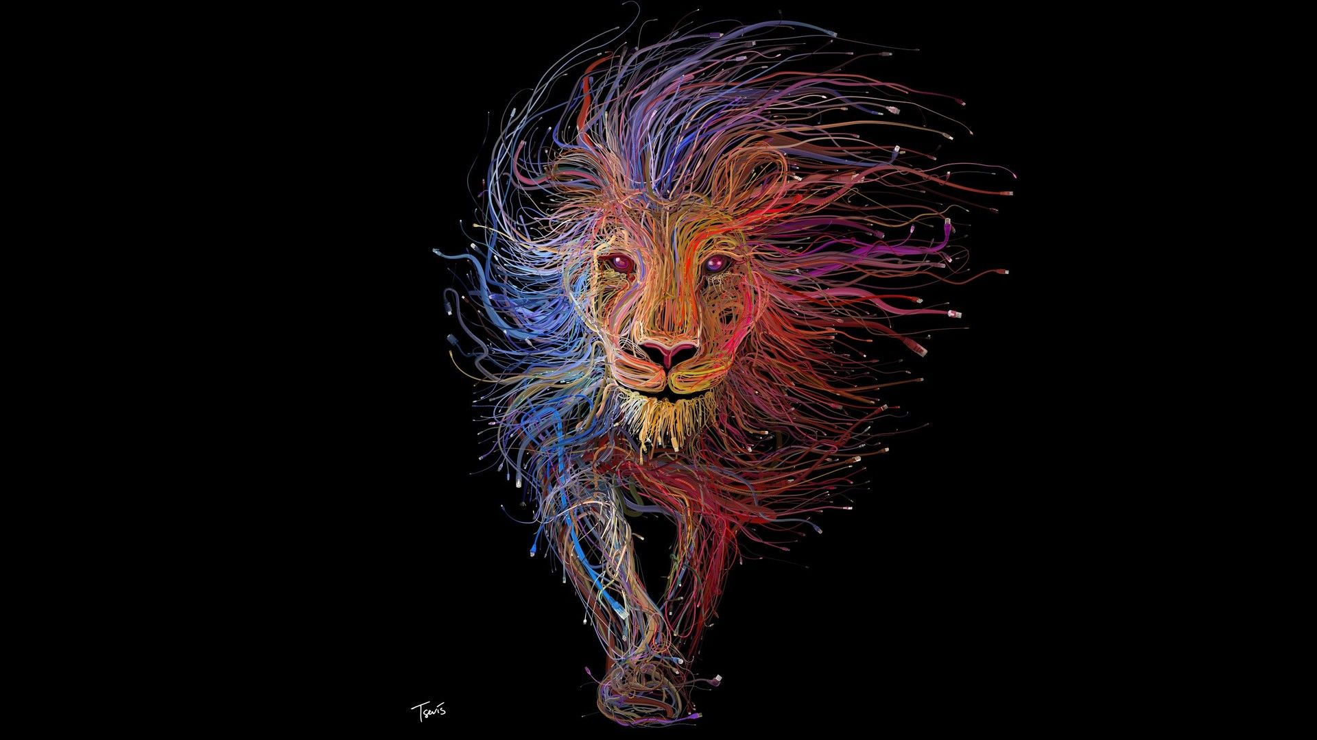 Lion Art Download Wallpaper