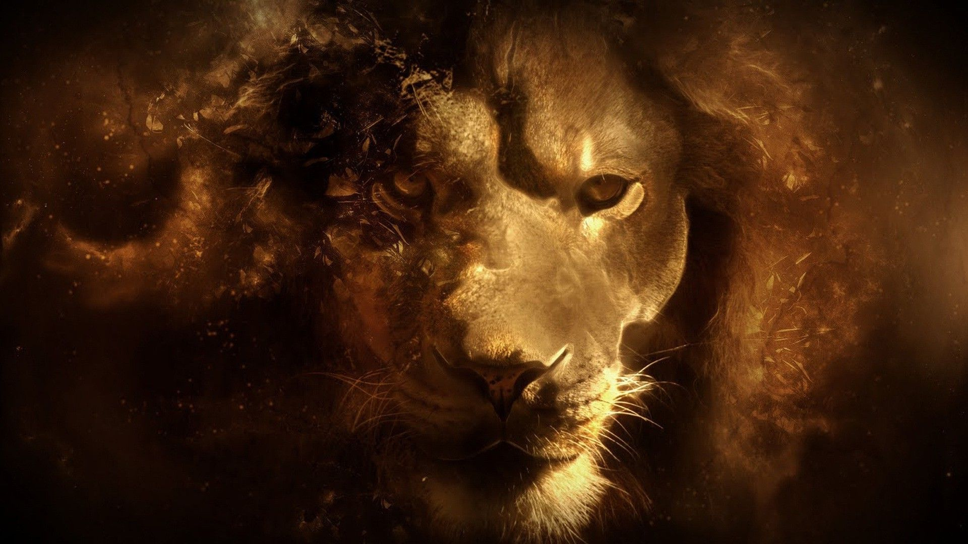 Lion Art wallpaper and themes