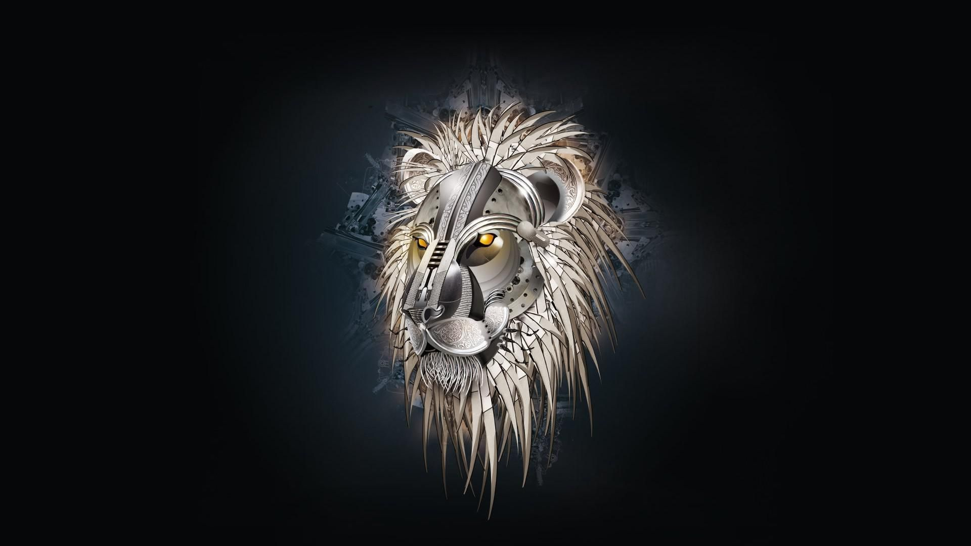 Lion Art download free wallpapers for pc in hd