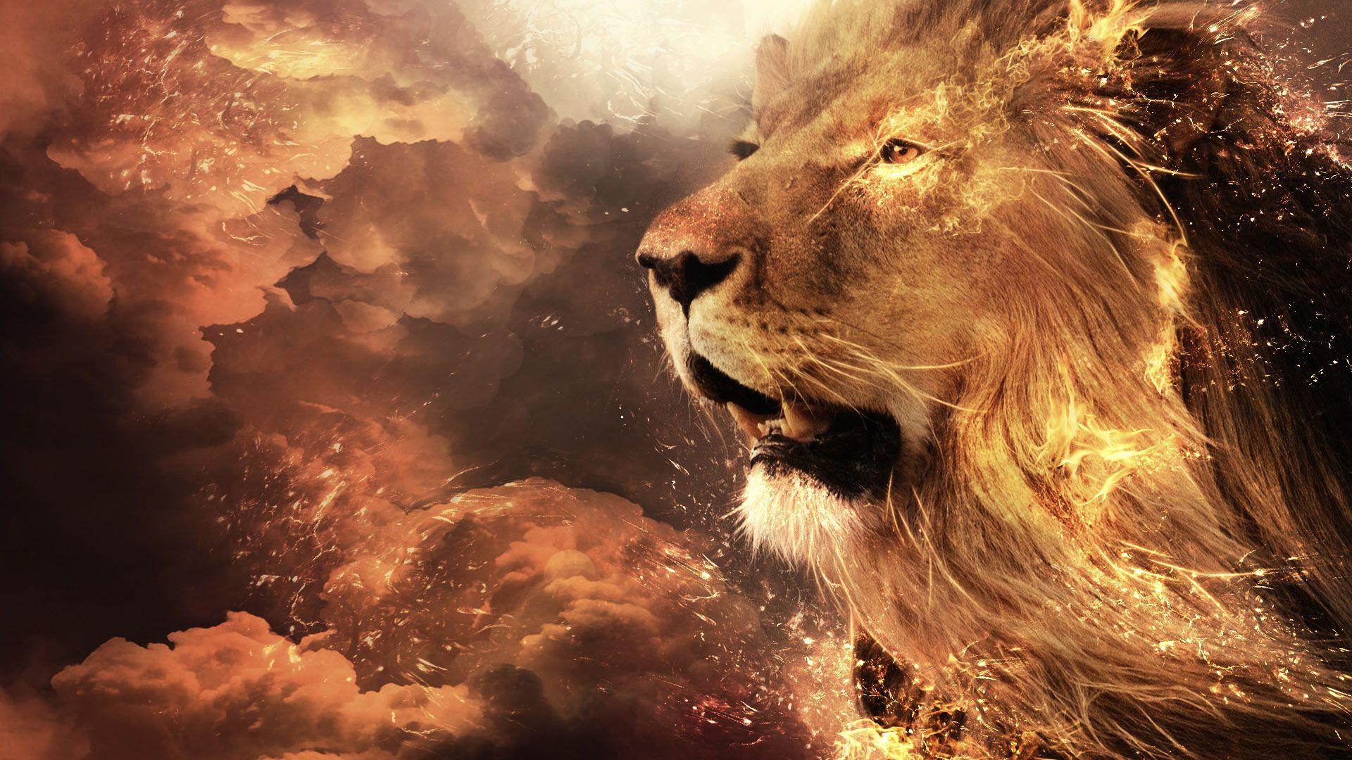 Lion Art wallpaper photo hd