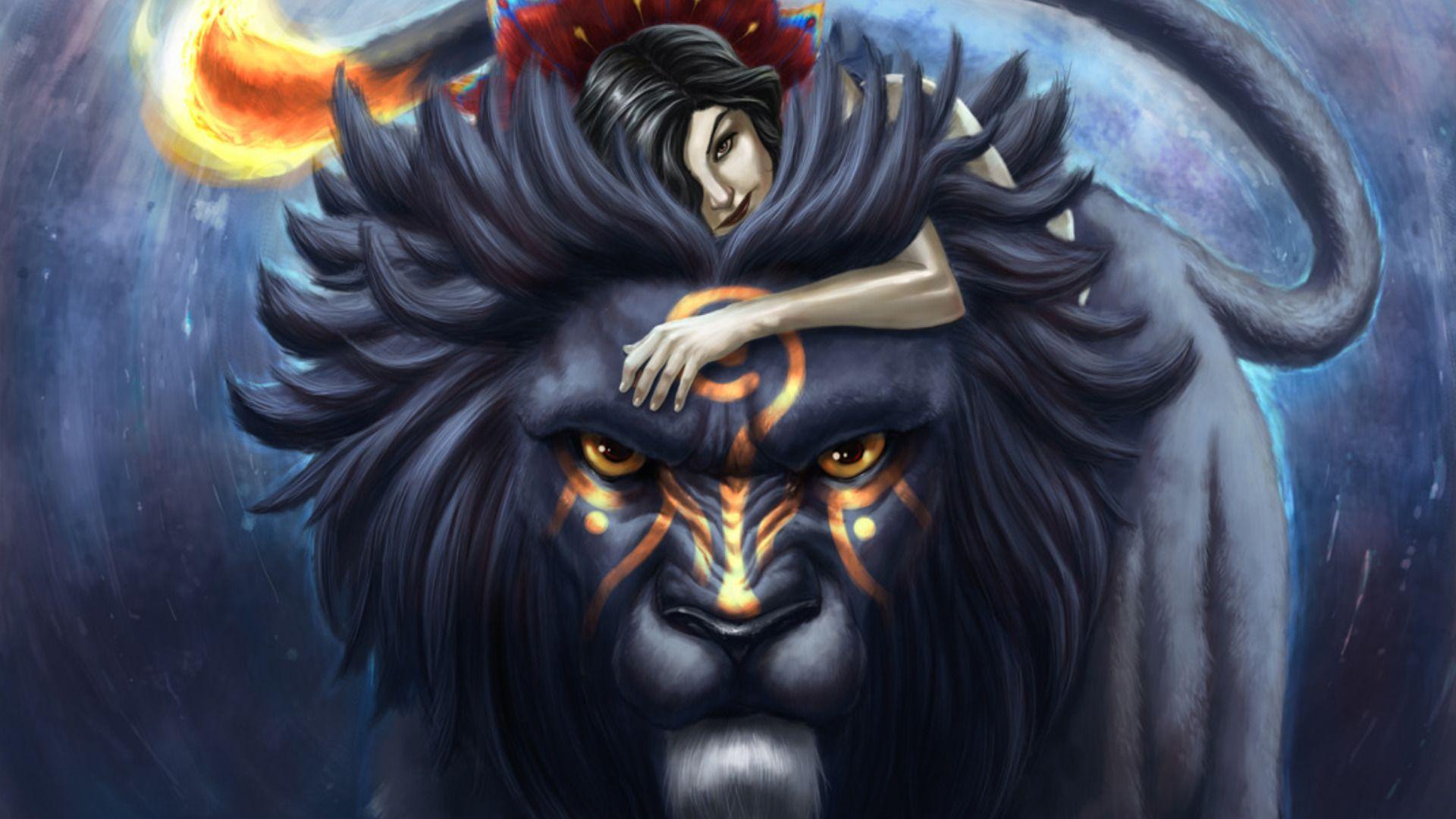 Lion Art Background Wallpaper HD