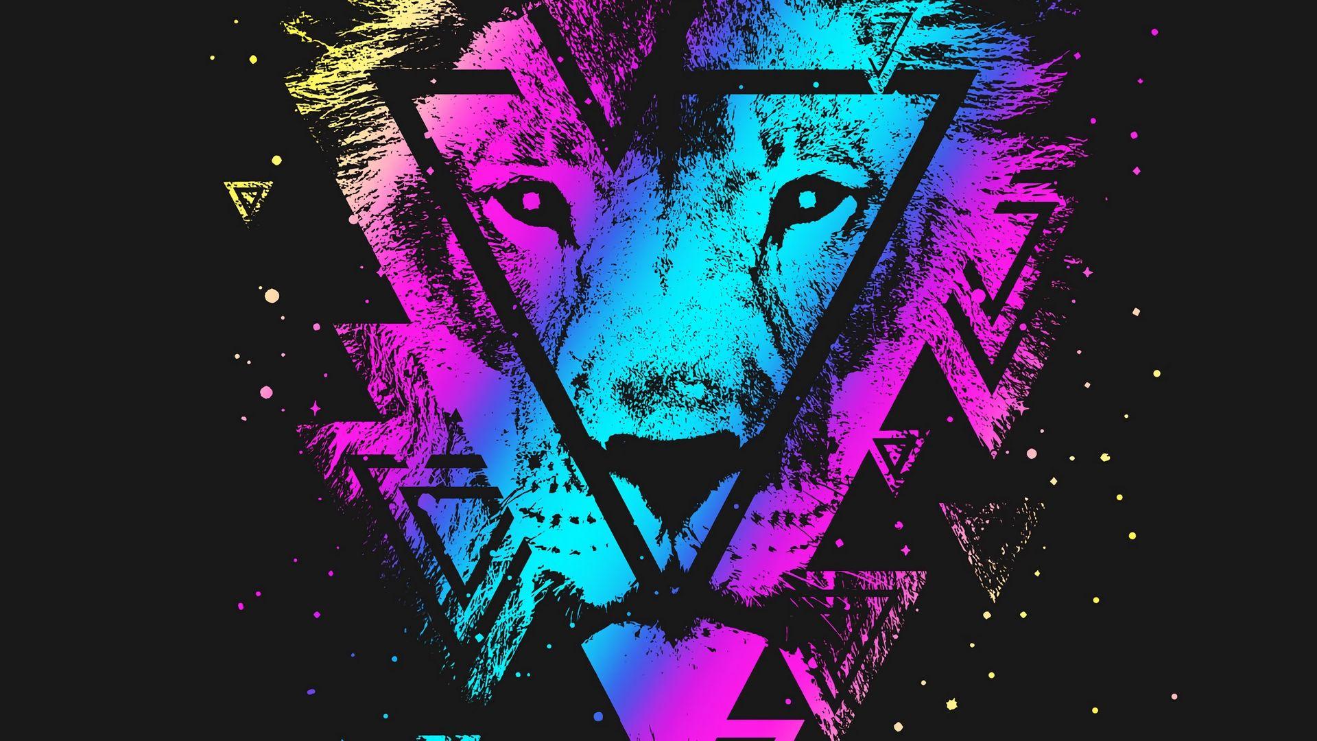 Lion Art download wallpaper image
