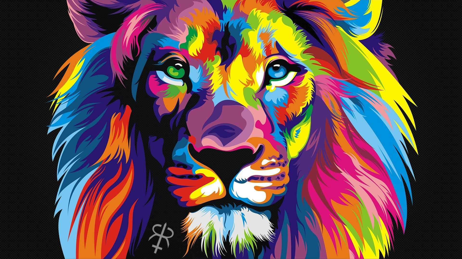 Lion Art vertical wallpaper hd