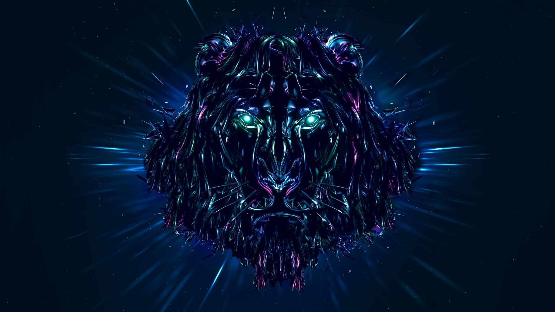 Lion Art download nice wallpaper
