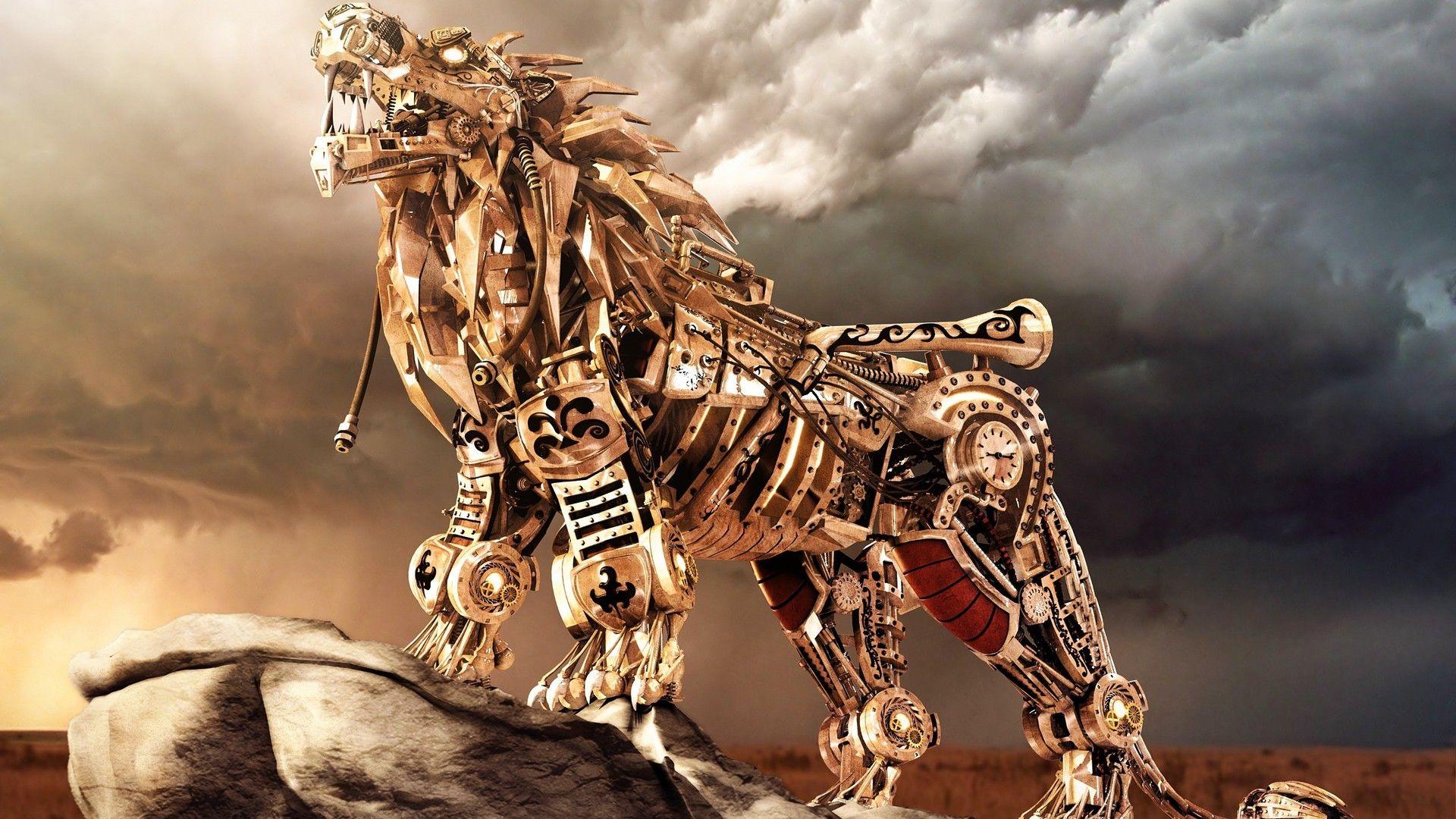 Lion Art 3d 1080p Wallpaper