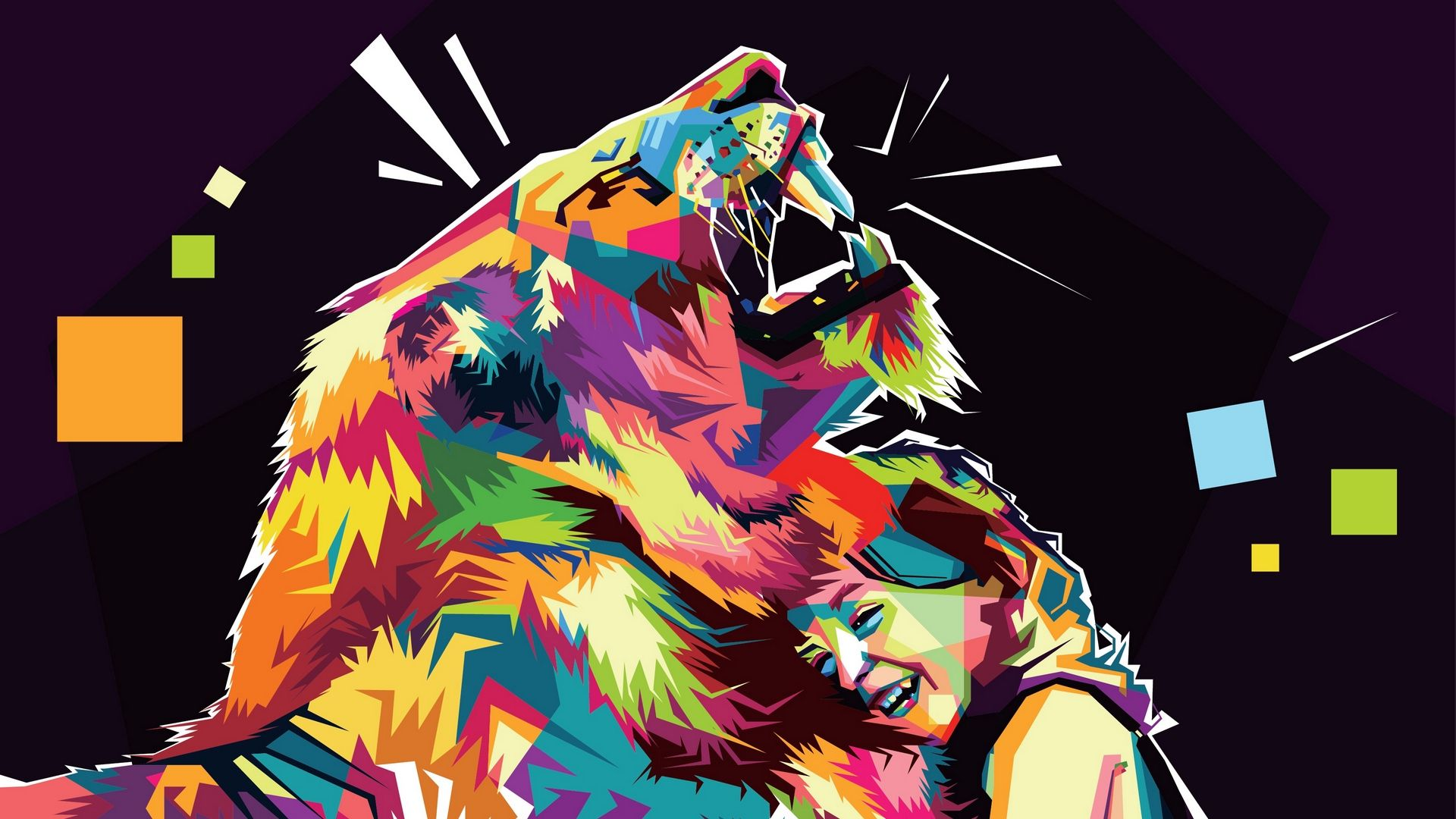 Lion Art free download wallpaper