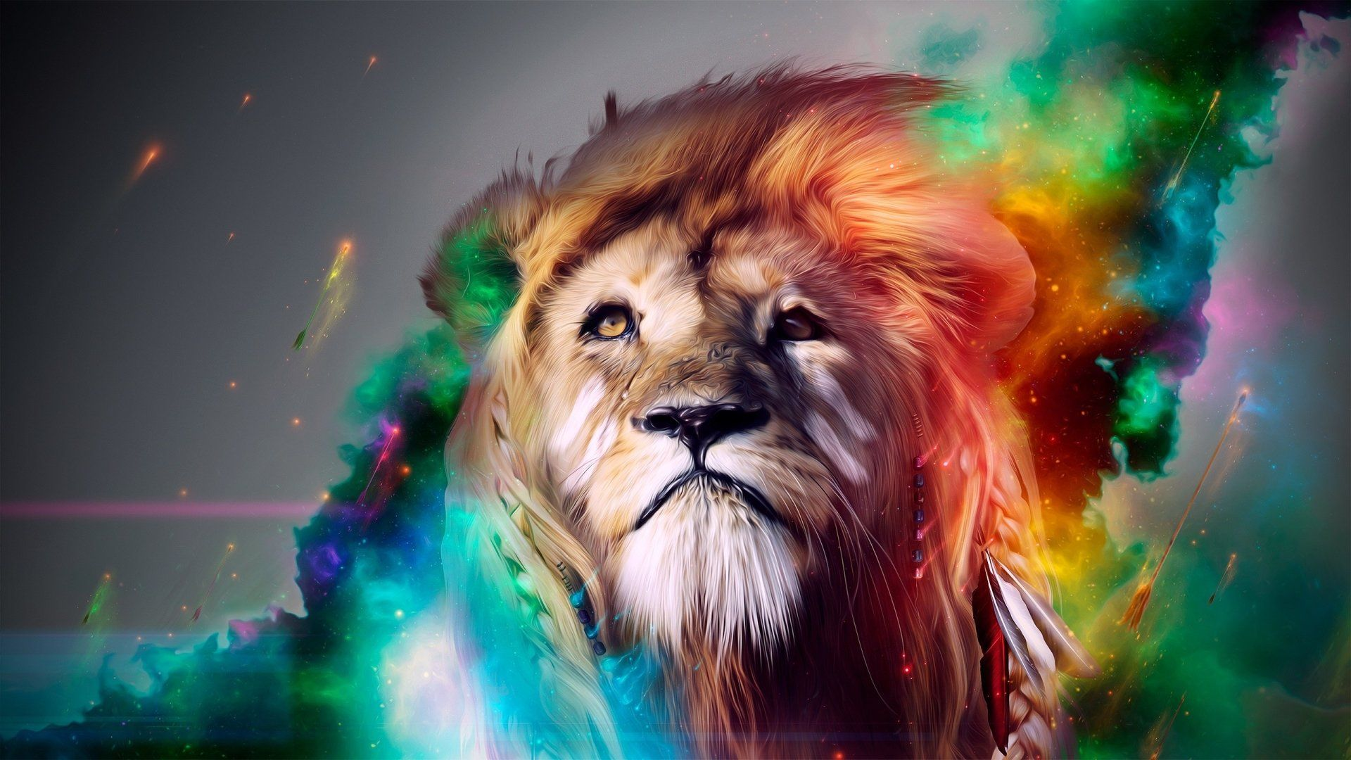 Lion Art HD Wallpaper