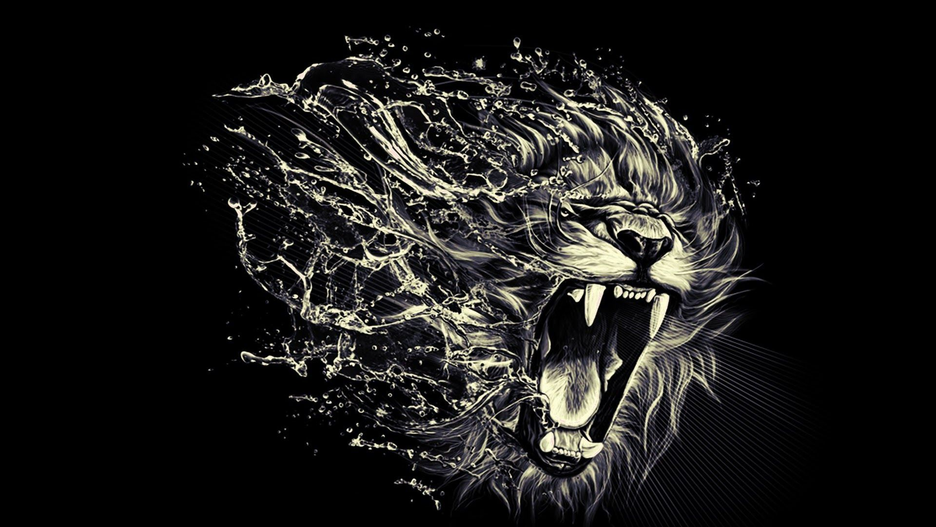 Lion Art wallpaper photo