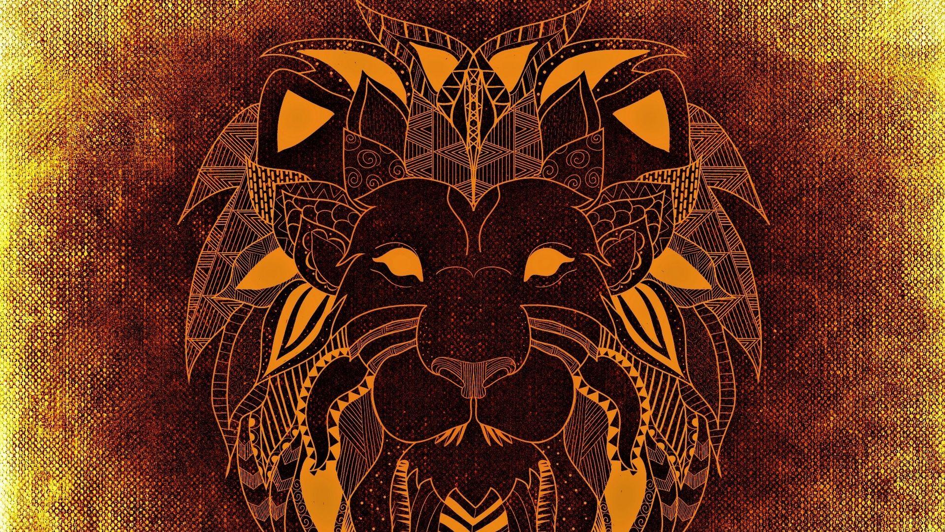 Lion Art wallpaper image