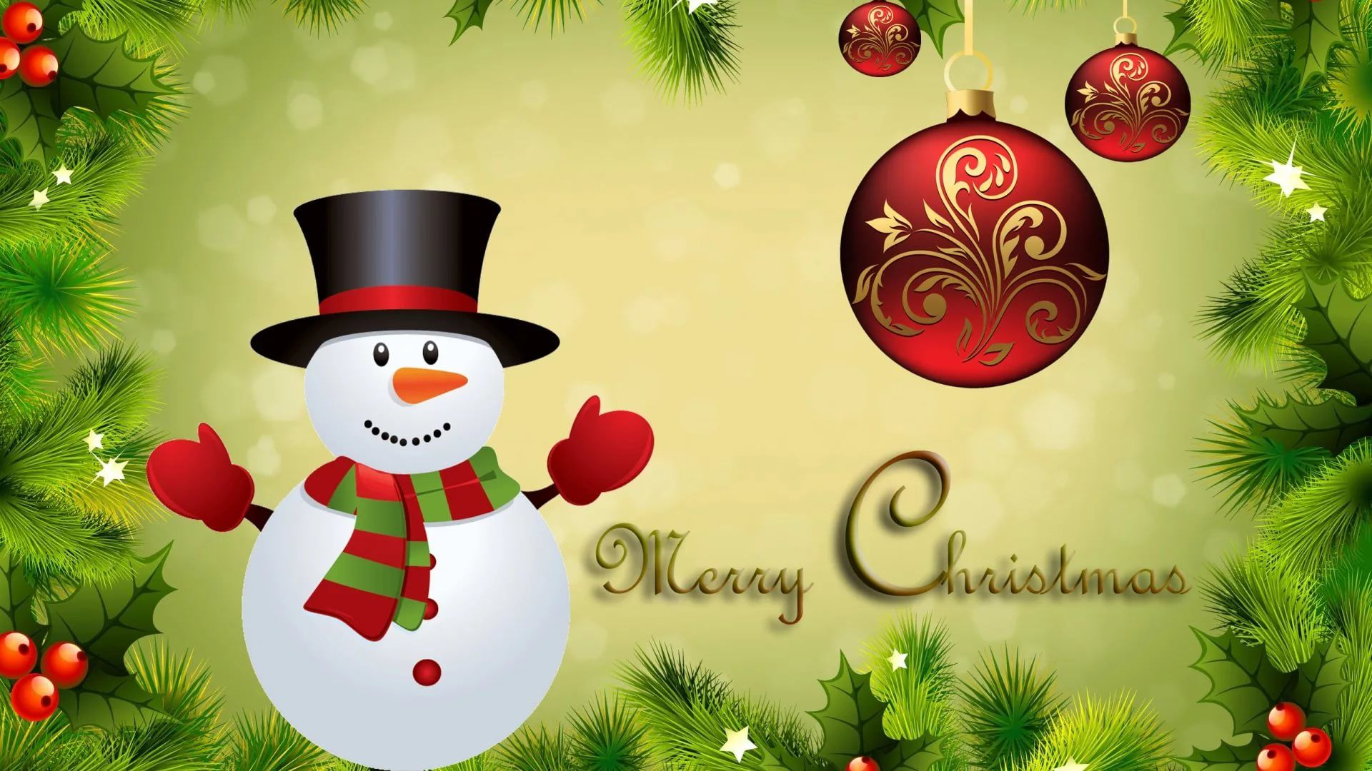 Merry Christmas PC Wallpaper