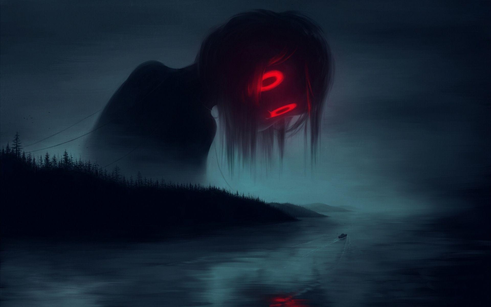 Monster In The Dark Art wallpaper