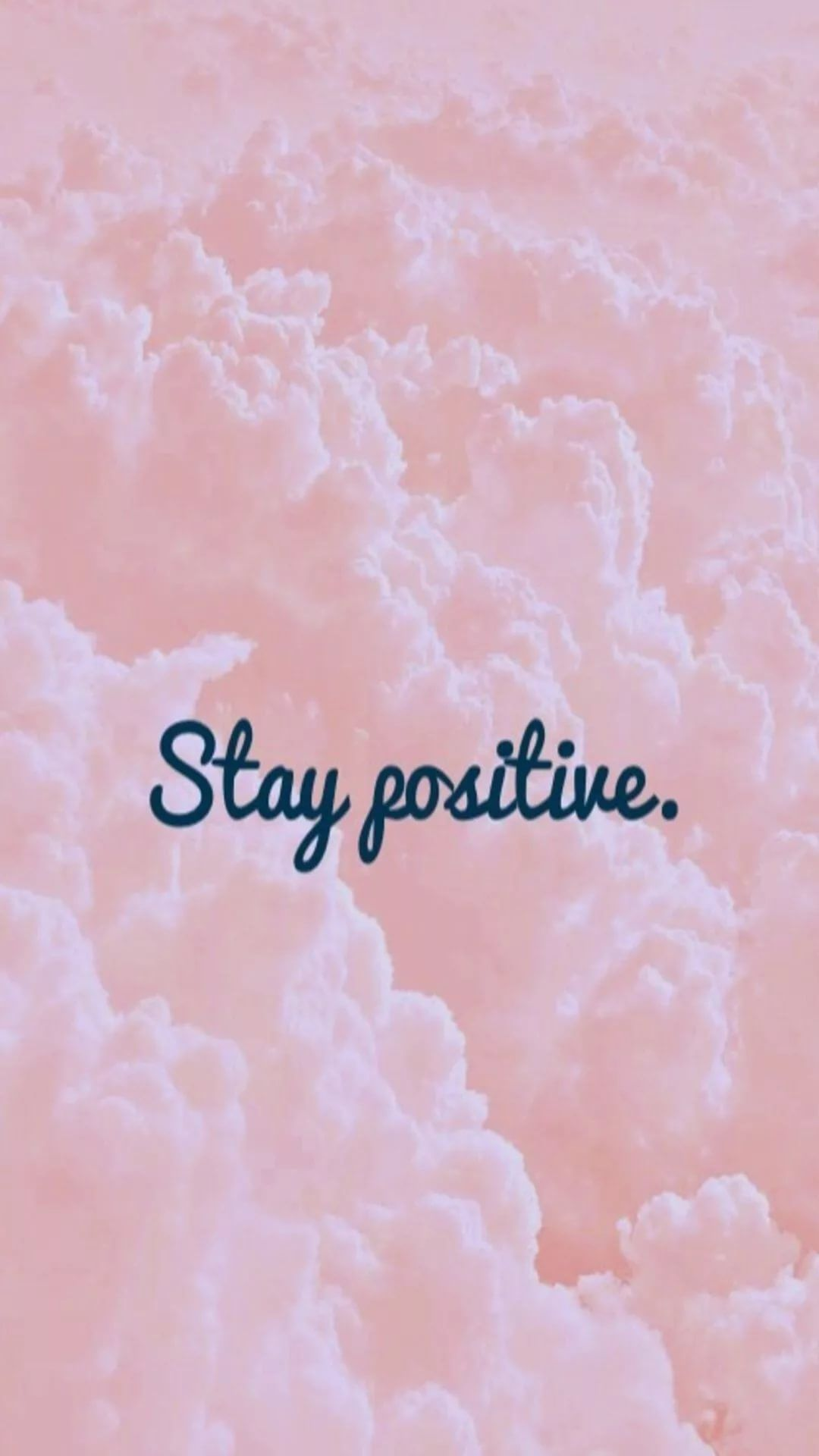 Positive iPhone lock screen wallpaper