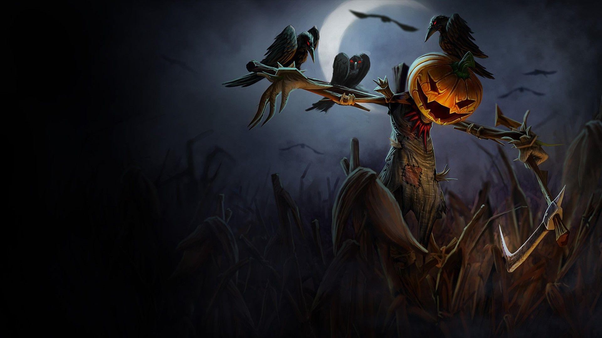 Pumpkin Head Halloweenfull hd 1080p wallpaper