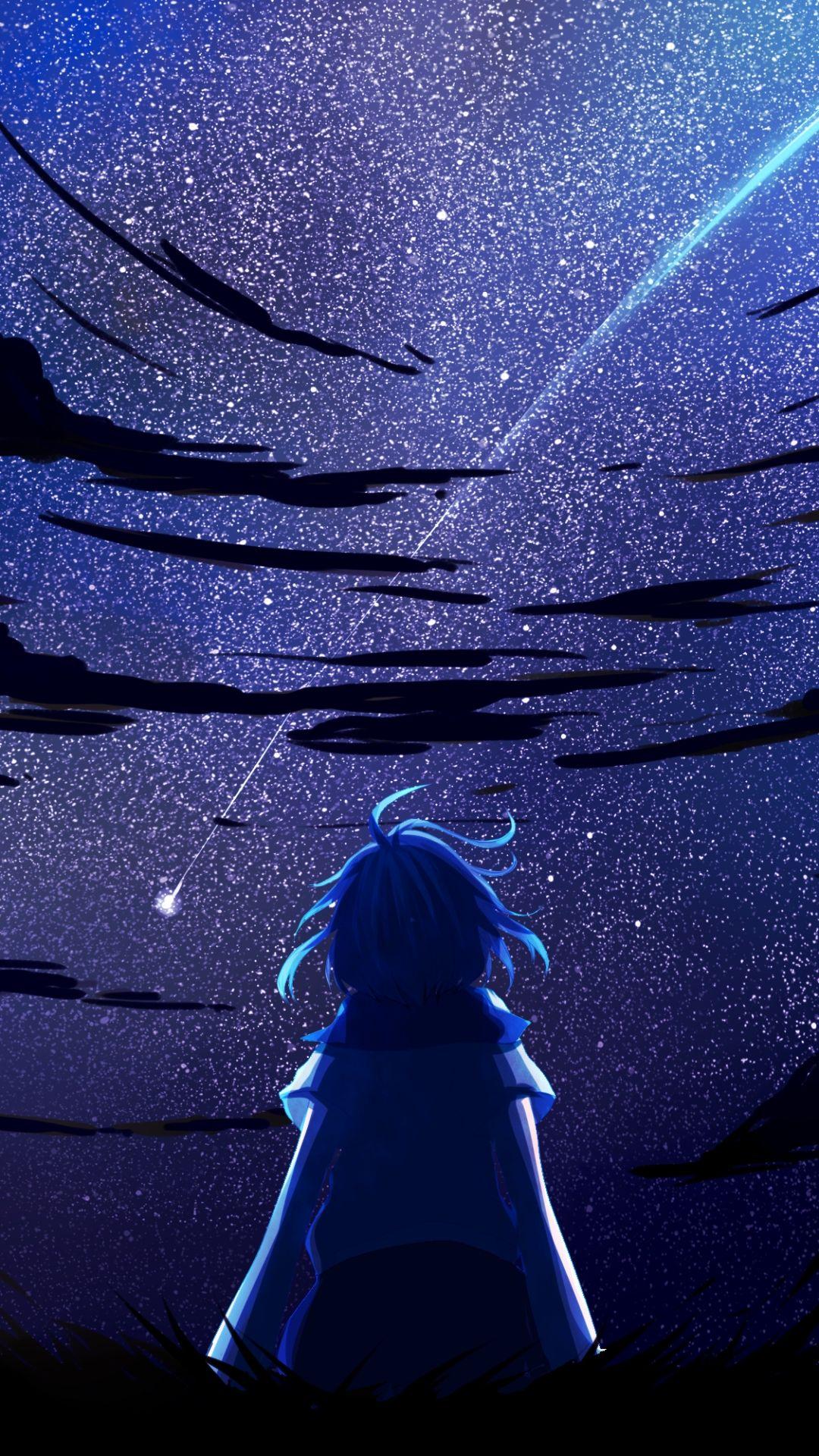 Sad Anime iOS 10 wallpaper