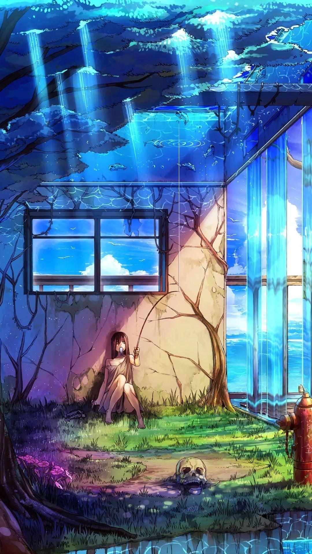 Sad Anime cool phone wallpaper