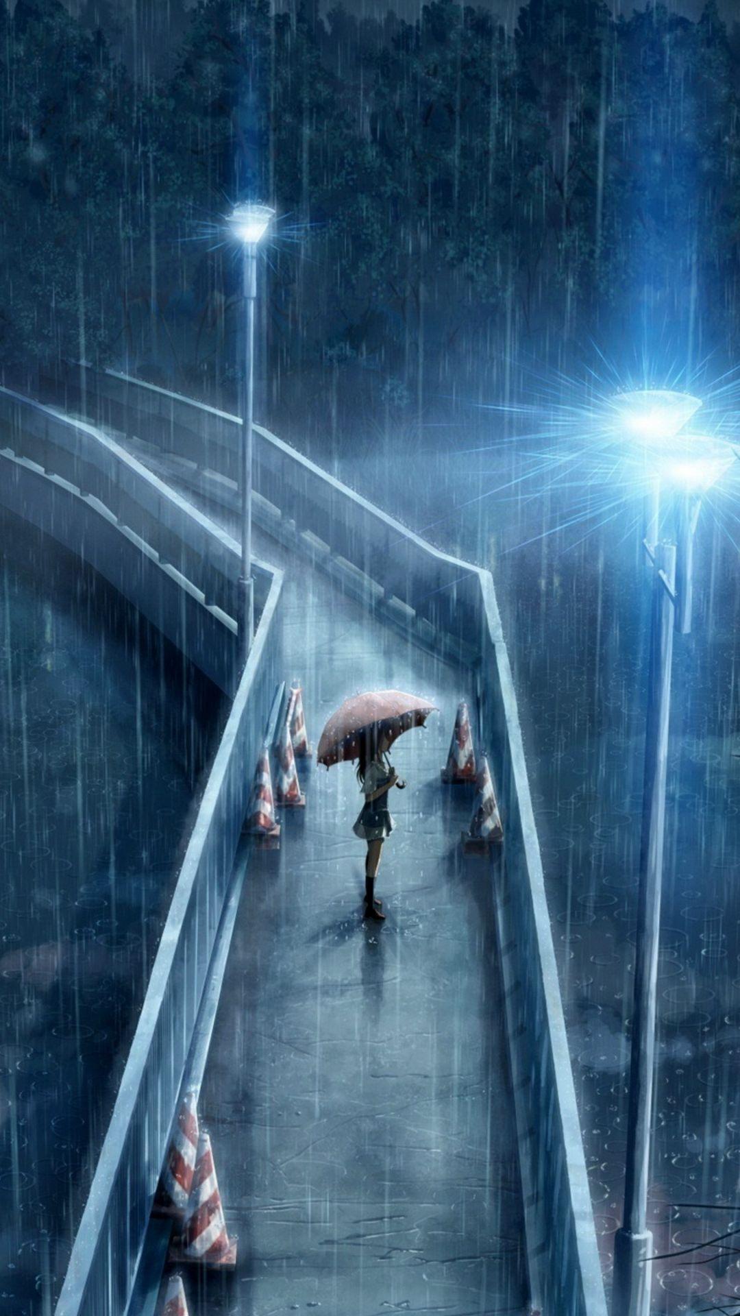 Sad Anime screen saver wallpaper
