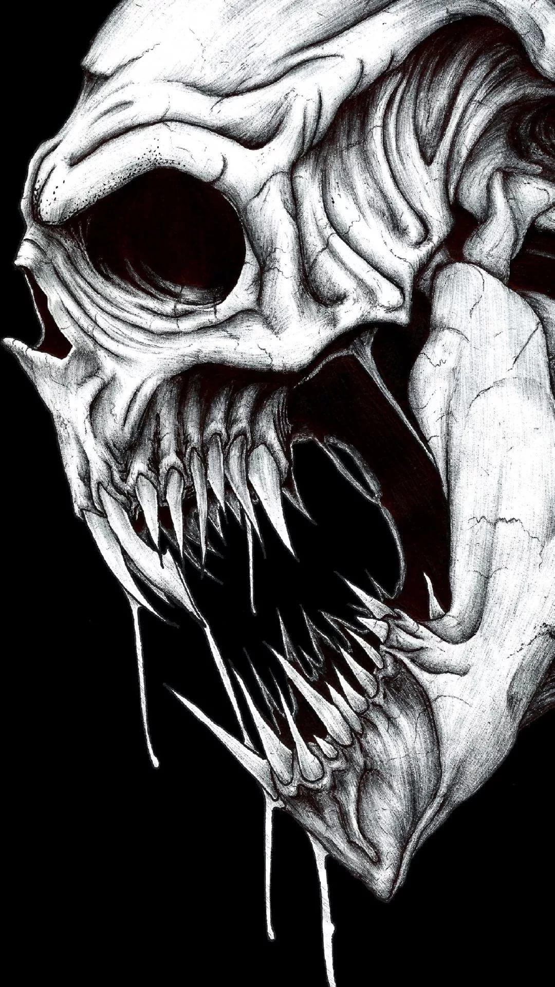 Skeleton iOS 7 wallpaper