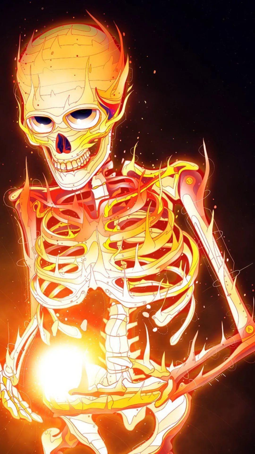 Skeleton HD wallpaper for mobile
