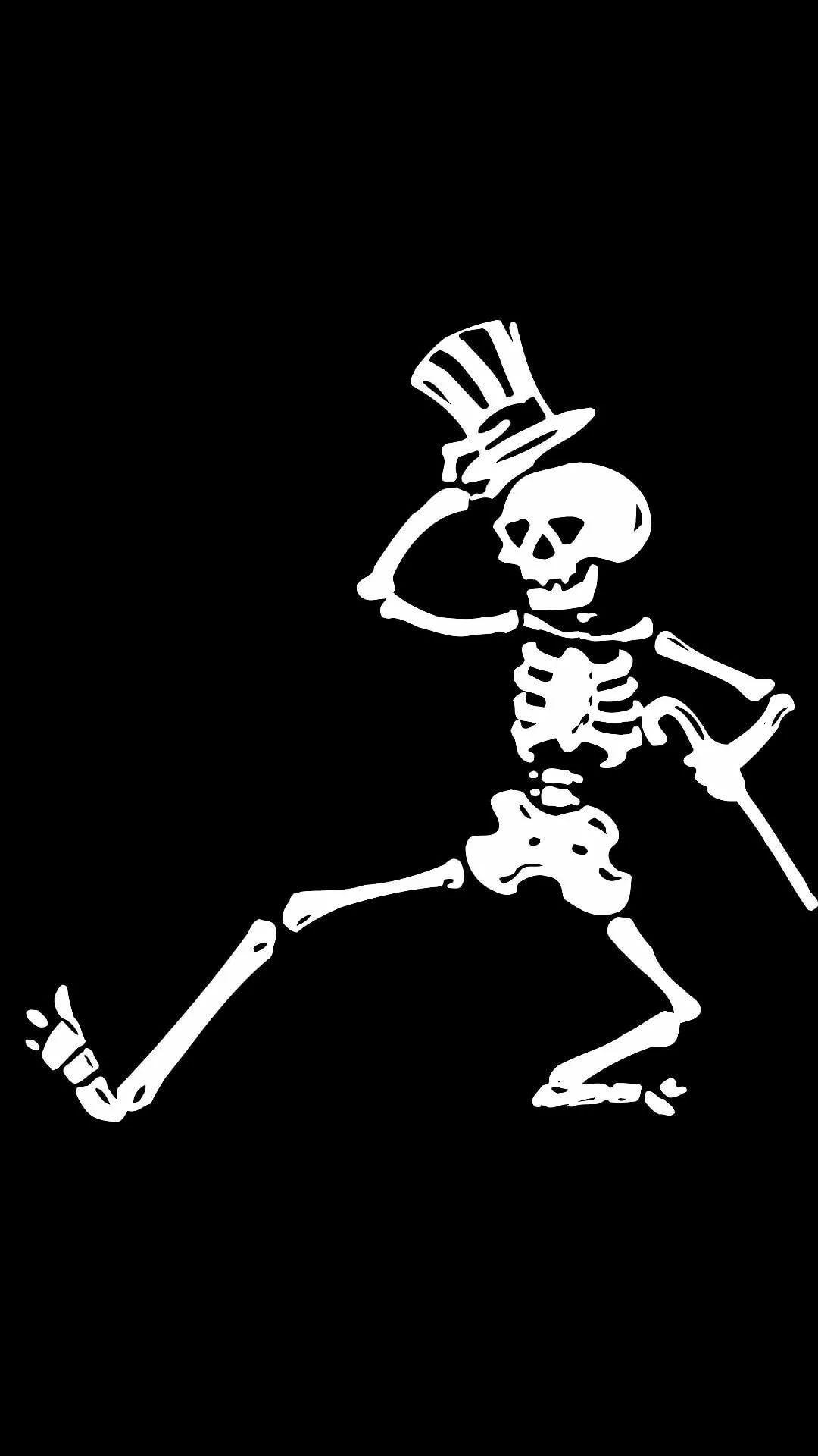 Skeleton iPhone xs max wallpaper