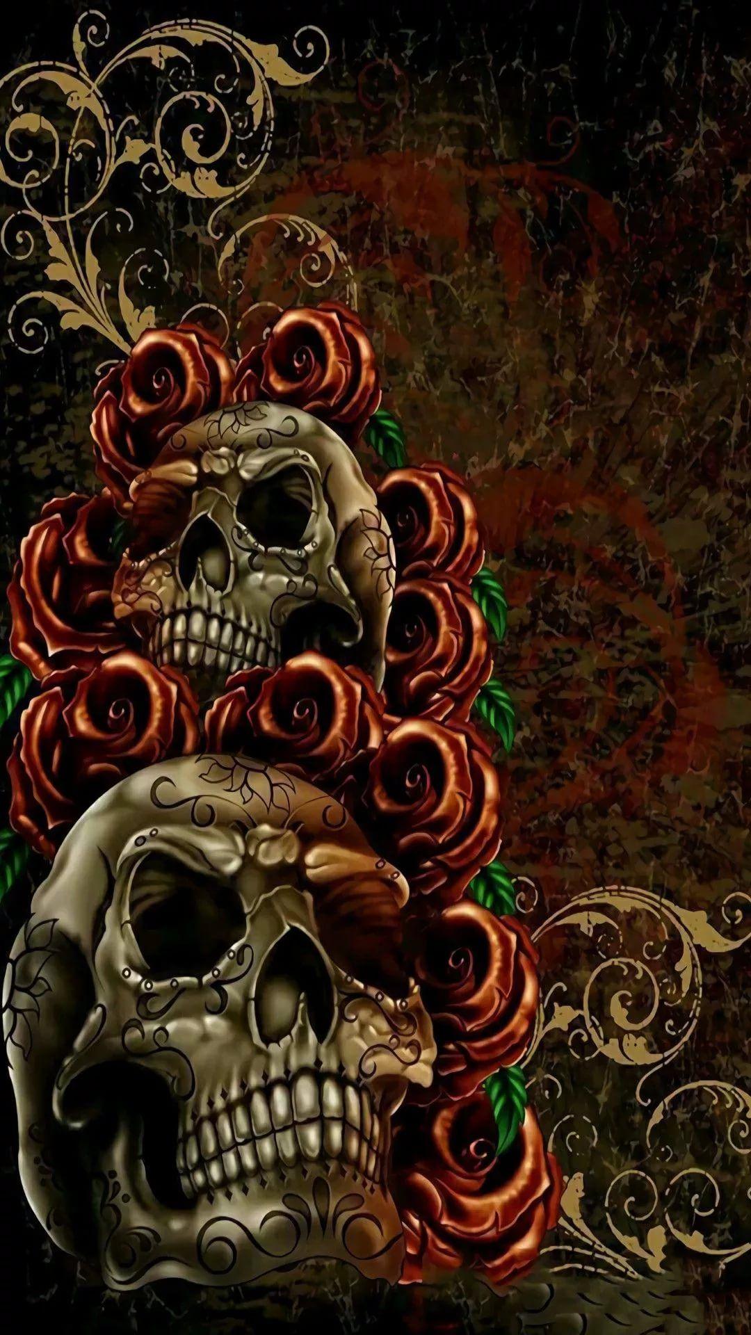 Skeleton iPhone 8 wallpaper