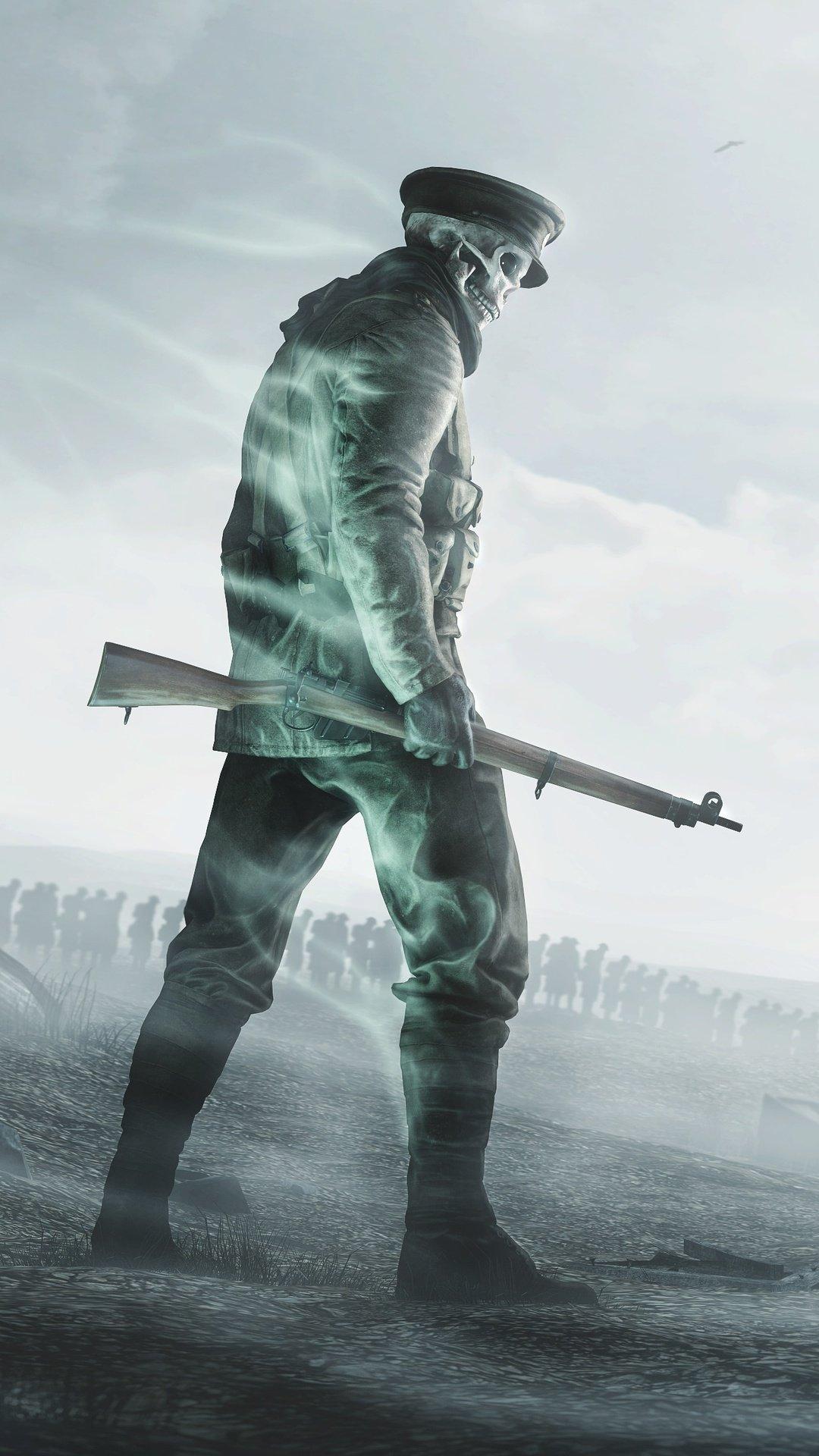 Soldier With A Gun, Zombie Skeleton wallpaper hd