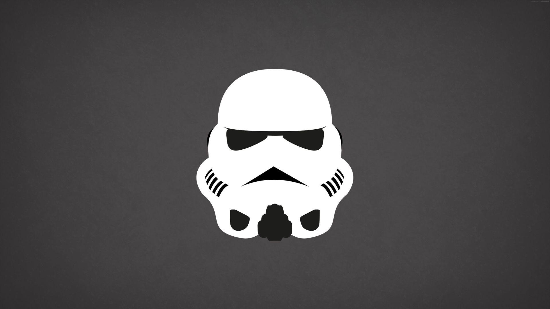 black star wars minimalist wallpaper