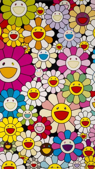 Takashi Murakami iPhone home screen wallpaper